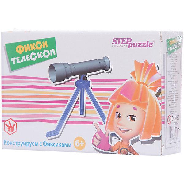 Игра Фикси - телескоп, Step PuzzleТелескопы<br>Игра Фикси - телескоп, Step Puzzle (Степ Пазл) – это увлекательная развивающая и обучающая игра-конструктор.<br>Игра-конструктор «Фикси-телескоп» из серии «Конструируем с Фиксиками» дает начальное представление об оптике. Собирая телескоп, ребенок получает навык конструирования, учиться читать и понимать чертежи, развивает мелкую моторику, внимание, память.<br><br>Дополнительная информация:<br><br>- В комплекте: детали для сборки телескопа<br>- Упаковка: картонная коробка<br>- Размер упаковки: 200x55x135 мм.<br><br>Игру Фикси - телескоп, Step Puzzle (Степ Пазл) можно купить в нашем интернет-магазине.<br>Ширина мм: 200; Глубина мм: 55; Высота мм: 135; Вес г: 400; Возраст от месяцев: 72; Возраст до месяцев: 144; Пол: Унисекс; Возраст: Детский; SKU: 4588256;