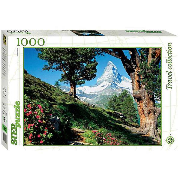 Пазл Маттерхорн, 1000 деталей, Step PuzzleПазлы классические<br>Пазл Маттерхорн, 1000 деталей, Step Puzzle (Степ Пазл) – это коллекционный подарочный пазл из серии «Travel Collection».<br>Сюжетом этого пазла является красивейший альпийский пейзаж, изображающий знаменитый пик Маттерхорн. Маттерхорн – это впечатляющая гора в форме остроконечной четырехгранной пирамиды. Крутые склоны Маттерхорна, величественно возвышающиеся на высоту 4478 метров, долгое время вселяли страх перед альпинистами. В 1865 году было совершено первое восхождение на этот пик. Собирается картина из 1000 аккуратно вырезанных элементов. Благодаря великолепному качеству исполнения, высокой точности в подгонке деталей, плотности картона, а также высокой контрастности, во время сборки у вас не возникнет абсолютно никаких затруднений. Получившаяся картина впишется в любой интерьер. Рекомендуется приобрести специальный клей для пазлов, который скрепит пазл, придаст ему сходство с цельной картиной.<br><br>Дополнительная информация:<br><br>- Количество деталей: 1000<br>- Материал: картон<br>- Размер собранной картины: 68х48 см.<br>- Отличная проклейка<br>- Детали идеально подходят друг другу<br>- Упаковка: картонная коробка<br>- Размер упаковки: 400x55x270 мм.<br>- Вес: 600 гр.<br><br>Пазл Маттерхорн, 1000 деталей, Step Puzzle (Степ Пазл) можно купить в нашем интернет-магазине.<br><br>Ширина мм: 400<br>Глубина мм: 55<br>Высота мм: 270<br>Вес г: 600<br>Возраст от месяцев: 84<br>Возраст до месяцев: 192<br>Пол: Унисекс<br>Возраст: Детский<br>SKU: 4588262