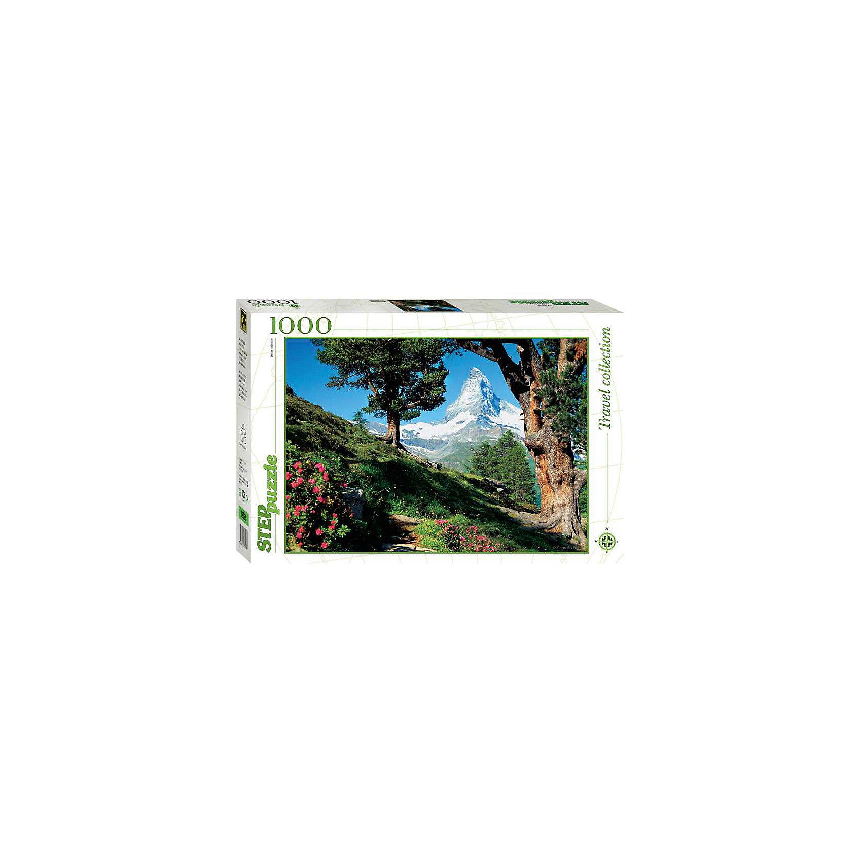 Пазл Маттерхорн, 1000 деталей, Step PuzzleПазл Маттерхорн, 1000 деталей, Step Puzzle (Степ Пазл) – это коллекционный подарочный пазл из серии «Travel Collection».<br>Сюжетом этого пазла является красивейший альпийский пейзаж, изображающий знаменитый пик Маттерхорн. Маттерхорн – это впечатляющая гора в форме остроконечной четырехгранной пирамиды. Крутые склоны Маттерхорна, величественно возвышающиеся на высоту 4478 метров, долгое время вселяли страх перед альпинистами. В 1865 году было совершено первое восхождение на этот пик. Собирается картина из 1000 аккуратно вырезанных элементов. Благодаря великолепному качеству исполнения, высокой точности в подгонке деталей, плотности картона, а также высокой контрастности, во время сборки у вас не возникнет абсолютно никаких затруднений. Получившаяся картина впишется в любой интерьер. Рекомендуется приобрести специальный клей для пазлов, который скрепит пазл, придаст ему сходство с цельной картиной.<br><br>Дополнительная информация:<br><br>- Количество деталей: 1000<br>- Материал: картон<br>- Размер собранной картины: 68х48 см.<br>- Отличная проклейка<br>- Детали идеально подходят друг другу<br>- Упаковка: картонная коробка<br>- Размер упаковки: 400x55x270 мм.<br>- Вес: 600 гр.<br><br>Пазл Маттерхорн, 1000 деталей, Step Puzzle (Степ Пазл) можно купить в нашем интернет-магазине.<br><br>Ширина мм: 400<br>Глубина мм: 55<br>Высота мм: 270<br>Вес г: 600<br>Возраст от месяцев: 84<br>Возраст до месяцев: 192<br>Пол: Унисекс<br>Возраст: Детский<br>SKU: 4588262