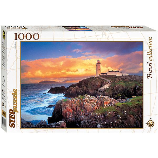 Пазл Маяк, 1000 деталей, Step PuzzleПазлы классические<br>Пазл Маяк, 1000 деталей, Step Puzzle (Степ Пазл) – это коллекционный подарочный пазл из серии «Travel Collection».<br>Собрав это пазл, Вы получите прекрасный предзакатный пейзаж, где лучи заходящего солнца, освящают одинокий маяк, стоящий вдалеке, а бирюзовые волны солеными брызгами разбиваются о прибрежные скалы, покрытые зеленой травой. Собирается картина из 1000 аккуратно вырезанных элементов. Благодаря великолепному качеству исполнения, высокой точности в подгонке деталей, плотности картона, а также высокой контрастности, во время сборки у вас не возникнет абсолютно никаких затруднений. Получившаяся картина впишется в любой интерьер. Рекомендуется приобрести специальный клей для пазлов, который скрепит пазл, придаст ему сходство с цельной картиной.<br><br>Дополнительная информация:<br><br>- Количество деталей: 1000<br>- Материал: картон<br>- Размер собранной картины: 68х48 см.<br>- Отличная проклейка<br>- Детали идеально подходят друг другу<br>- Упаковка: картонная коробка<br>- Размер упаковки: 400x55x270 мм.<br>- Вес: 600 гр.<br><br>Пазл Маяк, 1000 деталей, Step Puzzle (Степ Пазл) можно купить в нашем интернет-магазине.<br><br>Ширина мм: 400<br>Глубина мм: 55<br>Высота мм: 270<br>Вес г: 600<br>Возраст от месяцев: 84<br>Возраст до месяцев: 192<br>Пол: Унисекс<br>Возраст: Детский<br>SKU: 4588263