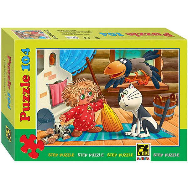 Пазл Домовенок Кузя, 104 детали, Step PuzzleПазлы классические<br>Пазл Домовенок Кузя, 104 детали, Step Puzzle (Степ Пазл) – это замечательный красочный пазл с изображением любимых героев.<br>Непоседливый домовёнок по имени Кузя приглашает принять участие в забавных приключениях. Подарите ребенку чудесный пазл Домовенок Кузя, и он будет увлеченно подбирать детали, пока не составит яркую и интересную картинку, на которой изображены забавный домовенок Кузя, кот и ворона. Сборка пазла Домовенок Кузя от Step Puzzle (Степ Пазл) подарит Вашему ребенку не только множество увлекательных вечеров, но и принесет пользу для развития. Координация, моторика, внимательность легко тренируются, пока ребенок увлеченно подбирает детали. Качественные фрагменты пазла отлично проклеены и идеально подходят один к другому, поэтому сборка пазла обеспечит малышу только положительные эмоции. Вы будете использовать этот пазл не один год, ведь благодаря качественной нарезке детали не расслаиваются даже после многократного использования.<br><br>Дополнительная информация:<br><br>- Количество деталей: 104<br>- Материал: картон<br>- Размер собранной картинки: 33х23 см.<br>- Отличная проклейка<br>- Долгий срок службы<br>- Детали идеально подходят друг другу<br>- Яркий сюжет<br>- Упаковка: картонная коробка<br>- Размер упаковки: 195x35x140 мм.<br>- Вес: 400 гр.<br><br>Пазл Домовенок Кузя, 104 детали, Step Puzzle (Степ Пазл) можно купить в нашем интернет-магазине.<br>Ширина мм: 195; Глубина мм: 35; Высота мм: 140; Вес г: 400; Возраст от месяцев: 60; Возраст до месяцев: 144; Пол: Унисекс; Возраст: Детский; Количество деталей: 104; SKU: 4588267;