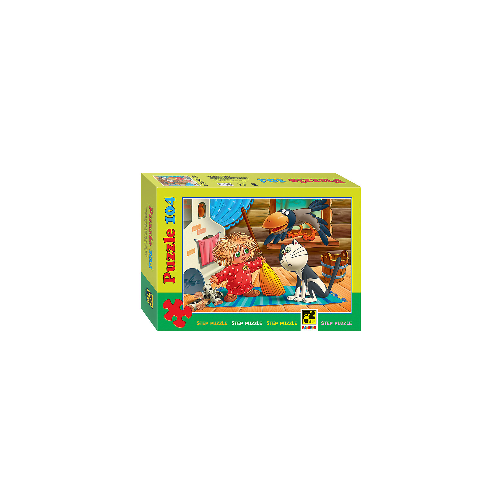 Пазл Домовенок Кузя, 104 детали, Step PuzzleКлассические пазлы<br>Пазл Домовенок Кузя, 104 детали, Step Puzzle (Степ Пазл) – это замечательный красочный пазл с изображением любимых героев.<br>Непоседливый домовёнок по имени Кузя приглашает принять участие в забавных приключениях. Подарите ребенку чудесный пазл Домовенок Кузя, и он будет увлеченно подбирать детали, пока не составит яркую и интересную картинку, на которой изображены забавный домовенок Кузя, кот и ворона. Сборка пазла Домовенок Кузя от Step Puzzle (Степ Пазл) подарит Вашему ребенку не только множество увлекательных вечеров, но и принесет пользу для развития. Координация, моторика, внимательность легко тренируются, пока ребенок увлеченно подбирает детали. Качественные фрагменты пазла отлично проклеены и идеально подходят один к другому, поэтому сборка пазла обеспечит малышу только положительные эмоции. Вы будете использовать этот пазл не один год, ведь благодаря качественной нарезке детали не расслаиваются даже после многократного использования.<br><br>Дополнительная информация:<br><br>- Количество деталей: 104<br>- Материал: картон<br>- Размер собранной картинки: 33х23 см.<br>- Отличная проклейка<br>- Долгий срок службы<br>- Детали идеально подходят друг другу<br>- Яркий сюжет<br>- Упаковка: картонная коробка<br>- Размер упаковки: 195x35x140 мм.<br>- Вес: 400 гр.<br><br>Пазл Домовенок Кузя, 104 детали, Step Puzzle (Степ Пазл) можно купить в нашем интернет-магазине.<br><br>Ширина мм: 195<br>Глубина мм: 35<br>Высота мм: 140<br>Вес г: 400<br>Возраст от месяцев: 60<br>Возраст до месяцев: 144<br>Пол: Унисекс<br>Возраст: Детский<br>Количество деталей: 104<br>SKU: 4588267