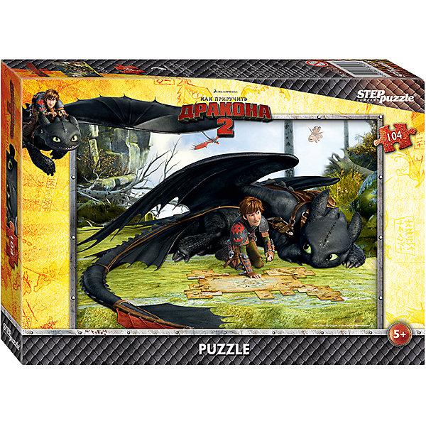 Пазл Как приручить дракона-2, 104 детали, Step PuzzleПазлы классические<br>Пазл Как приручить дракона-2, 104 детали, Step Puzzle (Степ Пазл) – это замечательный красочный пазл с изображением любимых героев.<br>Погрузитесь в мир головокружительных приключений вместе с героями мультфильма DreamWorks «Как приручить дракона 2» Прошло пять лет с тех пор как викинги и драконы примирились. Ни что не нарушает спокойную жизнь на острове Олух. Ребята соревнуются в драконьих гонках. Иккинг и Беззубик путешествуют по небу и составляют карту неизвестных мест. Но их мирной жизни приходит конец. Новый могущественный враг надвигается на остров. Викингам и драконам предстоит пережить много опасных приключений и сразиться за мир. Подарите ребенку чудесный пазл Как приручить дракона-2, и он будет увлеченно подбирать детали, пока не составит яркую и интересную картинку с любимым героем Иккингом и его ручным драконом по кличке Беззубик. Сборка пазла Как приручить дракона-2 от Step Puzzle (Степ Пазл) подарит Вашему ребенку не только множество увлекательных вечеров, но и принесет пользу для развития. Координация, моторика, внимательность легко тренируются, пока ребенок увлеченно подбирает детали. Качественные фрагменты пазла отлично проклеены и идеально подходят один к другому, поэтому сборка пазла обеспечит малышу только положительные эмоции. Вы будете использовать этот пазл не один год, ведь благодаря качественной нарезке детали не расслаиваются даже после многократного использования.<br><br>Дополнительная информация:<br><br>- Количество деталей: 104<br>- Материал: картон<br>- Размер собранной картинки: 33х23 см.<br>- Отличная проклейка<br>- Долгий срок службы<br>- Детали идеально подходят друг другу<br>- Яркий сюжет<br>- Упаковка: картонная коробка<br>- Размер упаковки: 195x35x140 мм.<br>- Вес: 400 гр.<br><br>Пазл Как приручить дракона-2, 104 детали, Step Puzzle (Степ Пазл) можно купить в нашем интернет-магазине.<br>Ширина мм: 195; Глубина мм: 35; Высота мм: 140; Вес г: 400; Возраст от