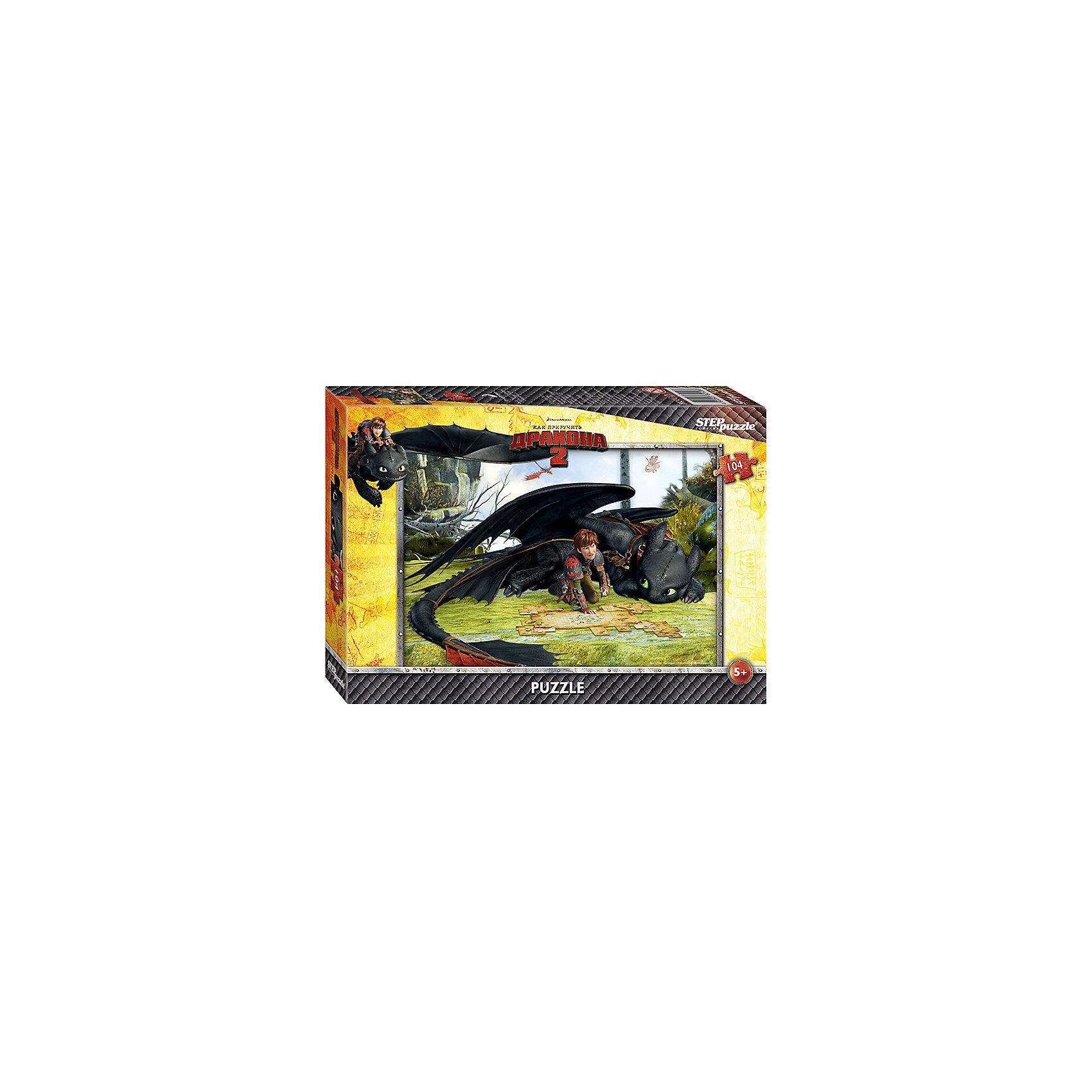 Пазл Как приручить дракона-2, 104 детали, Step PuzzleКлассические пазлы<br>Пазл Как приручить дракона-2, 104 детали, Step Puzzle (Степ Пазл) – это замечательный красочный пазл с изображением любимых героев.<br>Погрузитесь в мир головокружительных приключений вместе с героями мультфильма DreamWorks «Как приручить дракона 2» Прошло пять лет с тех пор как викинги и драконы примирились. Ни что не нарушает спокойную жизнь на острове Олух. Ребята соревнуются в драконьих гонках. Иккинг и Беззубик путешествуют по небу и составляют карту неизвестных мест. Но их мирной жизни приходит конец. Новый могущественный враг надвигается на остров. Викингам и драконам предстоит пережить много опасных приключений и сразиться за мир. Подарите ребенку чудесный пазл Как приручить дракона-2, и он будет увлеченно подбирать детали, пока не составит яркую и интересную картинку с любимым героем Иккингом и его ручным драконом по кличке Беззубик. Сборка пазла Как приручить дракона-2 от Step Puzzle (Степ Пазл) подарит Вашему ребенку не только множество увлекательных вечеров, но и принесет пользу для развития. Координация, моторика, внимательность легко тренируются, пока ребенок увлеченно подбирает детали. Качественные фрагменты пазла отлично проклеены и идеально подходят один к другому, поэтому сборка пазла обеспечит малышу только положительные эмоции. Вы будете использовать этот пазл не один год, ведь благодаря качественной нарезке детали не расслаиваются даже после многократного использования.<br><br>Дополнительная информация:<br><br>- Количество деталей: 104<br>- Материал: картон<br>- Размер собранной картинки: 33х23 см.<br>- Отличная проклейка<br>- Долгий срок службы<br>- Детали идеально подходят друг другу<br>- Яркий сюжет<br>- Упаковка: картонная коробка<br>- Размер упаковки: 195x35x140 мм.<br>- Вес: 400 гр.<br><br>Пазл Как приручить дракона-2, 104 детали, Step Puzzle (Степ Пазл) можно купить в нашем интернет-магазине.<br><br>Ширина мм: 195<br>Глубина мм: 35<br>Высота мм: 140<br>Вес г: 400<b