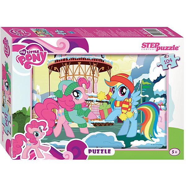 Пазл My little Pony, 104 детали, Step PuzzleПазлы для детей постарше<br>Пазл My little Pony, 104 детали, Step Puzzle (Степ Пазл) – это замечательный красочный пазл с изображением любимых героев.<br>Знаменитые маленькие пони приглашают в свой волшебный мир. Подарите ребенку чудесный пазл My little Pony, и он будет увлеченно подбирать детали, пока не составит яркую и интересную картинку, на которой изображены Пинки Пай и Рэйнбоу Дэш в милых шапочках и шарфиках на фоне зимнего Понивиля. Сборка пазла My little Pony от Step Puzzle (Степ Пазл) подарит Вашему ребенку не только множество увлекательных вечеров, но и принесет пользу для развития. Координация, моторика, внимательность легко тренируются, пока ребенок увлеченно подбирает детали. Качественные фрагменты пазла отлично проклеены и идеально подходят один к другому, поэтому сборка пазла обеспечит малышу только положительные эмоции. Вы будете использовать этот пазл не один год, ведь благодаря качественной нарезке детали не расслаиваются даже после многократного использования.<br><br>Дополнительная информация:<br><br>- Количество деталей: 104<br>- Материал: картон<br>- Размер собранной картинки: 33х23 см.<br>- Отличная проклейка<br>- Долгий срок службы<br>- Детали идеально подходят друг другу<br>- Яркий сюжет<br>- Упаковка: картонная коробка<br>- Размер упаковки: 195x35x140 мм.<br>- Вес: 400 гр.<br><br>Пазл My little Pony, 104 детали, Step Puzzle (Степ Пазл) можно купить в нашем интернет-магазине.<br><br>Ширина мм: 195<br>Глубина мм: 35<br>Высота мм: 140<br>Вес г: 400<br>Возраст от месяцев: 60<br>Возраст до месяцев: 144<br>Пол: Унисекс<br>Возраст: Детский<br>Количество деталей: 104<br>SKU: 4588270