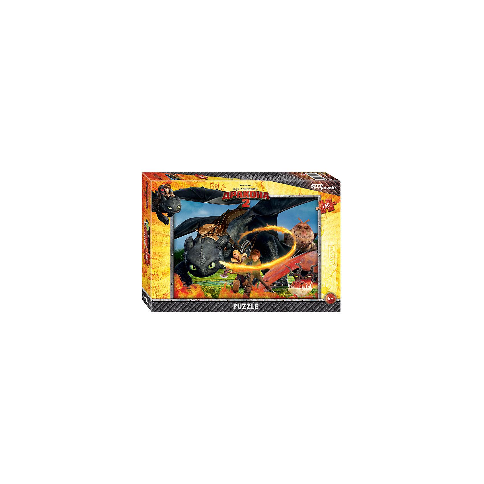Пазл Как приручить дракона-2, 160 детелей, Step PuzzleКлассические пазлы<br>Пазл Как приручить дракона-2, 160 деталей, Step Puzzle (Степ Пазл) – это замечательный красочный пазл с изображением любимых героев.<br>Погрузитесь в мир головокружительных приключений вместе с героями мультфильма DreamWorks «Как приручить дракона 2» Прошло пять лет с тех пор как викинги и драконы примирились. Ни что не нарушает спокойную жизнь на острове Олух. Ребята соревнуются в драконьих гонках. Иккинг и Беззубик путешествуют по небу и составляют карту неизвестных мест. Но их мирной жизни приходит конец. Новый могущественный враг надвигается на остров. Викингам и драконам предстоит пережить много опасных приключений и сразиться за мир. Подарите ребенку чудесный пазл Как приручить дракона-2, и он будет увлеченно подбирать детали, пока не составит яркую и интересную картинку, на которой изображены герои анимационного фильма. Сборка пазла Как приручить дракона-2 от Step Puzzle (Степ Пазл) подарит Вашему ребенку не только множество увлекательных вечеров, но и принесет пользу для развития. Координация, моторика, внимательность легко тренируются, пока ребенок увлеченно подбирает детали. Качественные фрагменты пазла отлично проклеены и идеально подходят один к другому, поэтому сборка пазла обеспечит малышу только положительные эмоции. Вы будете использовать этот пазл не один год, ведь благодаря качественной нарезке детали не расслаиваются даже после многократного использования.<br><br>Дополнительная информация:<br><br>- Количество деталей: 160<br>- Материал: картон<br>- Размер собранной картинки: 34,5х24 см.<br>- Отличная проклейка<br>- Долгий срок службы<br>- Детали идеально подходят друг другу<br>- Яркий сюжет<br>- Упаковка: картонная коробка<br>- Размер упаковки: 280x40x195 мм.<br>- Вес: 400 гр.<br><br>Пазл Как приручить дракона-2, 160 деталей, Step Puzzle (Степ Пазл) можно купить в нашем интернет-магазине.<br><br>Ширина мм: 280<br>Глубина мм: 40<br>Высота мм: 195<br>Вес г: 400<br>Возраст от