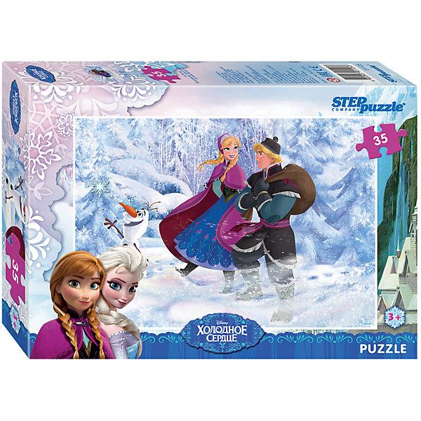 Пазл Холодное сердце, 35 деталей, Step PuzzleХолодное Сердце<br>Пазл Холодное сердце, 35 деталей, Step Puzzle (Степ Пазл) – это замечательный красочный пазл с изображением любимых героев.<br>Волшебный дар принцессы Эльзы погружает сказочное королевство Арендейл во власть вечной зимы. Снять ледяное проклятие может только ее родная сестра – принцесса Анна. Для этого она отправляется в горы, где скрывается Эльза. По пути Анна встречает отважного Кристоффера и его верного оленя Олафа. Вместе им предстоит пережить множество опасных приключений и невероятных встреч, чтобы спасти королевство. Подарите ребенку чудесный пазл Холодное сердце, и он будет увлеченно подбирать детали, пока не составит яркую и интересную картинку, на которой изображены любимые герои мультфильма. Сборка пазла Холодное сердце от Step Puzzle (Степ Пазл) подарит Вашему ребенку не только множество увлекательных вечеров, но и принесет пользу для развития. Координация, моторика, внимательность легко тренируются, пока ребенок увлеченно подбирает детали. Качественные фрагменты пазла отлично проклеены и идеально подходят один к другому, поэтому сборка пазла обеспечит малышу только положительные эмоции. Вы будете использовать этот пазл не один год, ведь благодаря качественной нарезке детали не расслаиваются даже после многократного использования.<br><br>Дополнительная информация:<br><br>- Количество деталей: 35<br>- Материал: картон<br>- Размер собранной картинки: 33х23 см.<br>- Отличная проклейка<br>- Долгий срок службы<br>- Детали идеально подходят друг другу<br>- Яркий сюжет<br>- Упаковка: картонная коробка<br>- Размер упаковки: 195x35x140 мм.<br>- Вес: 200 гр.<br><br>Пазл Холодное сердце, 35 деталей, Step Puzzle (Степ Пазл) можно купить в нашем интернет-магазине.<br><br>Ширина мм: 195<br>Глубина мм: 35<br>Высота мм: 140<br>Вес г: 200<br>Возраст от месяцев: 36<br>Возраст до месяцев: 84<br>Пол: Унисекс<br>Возраст: Детский<br>Количество деталей: 35<br>SKU: 4588292