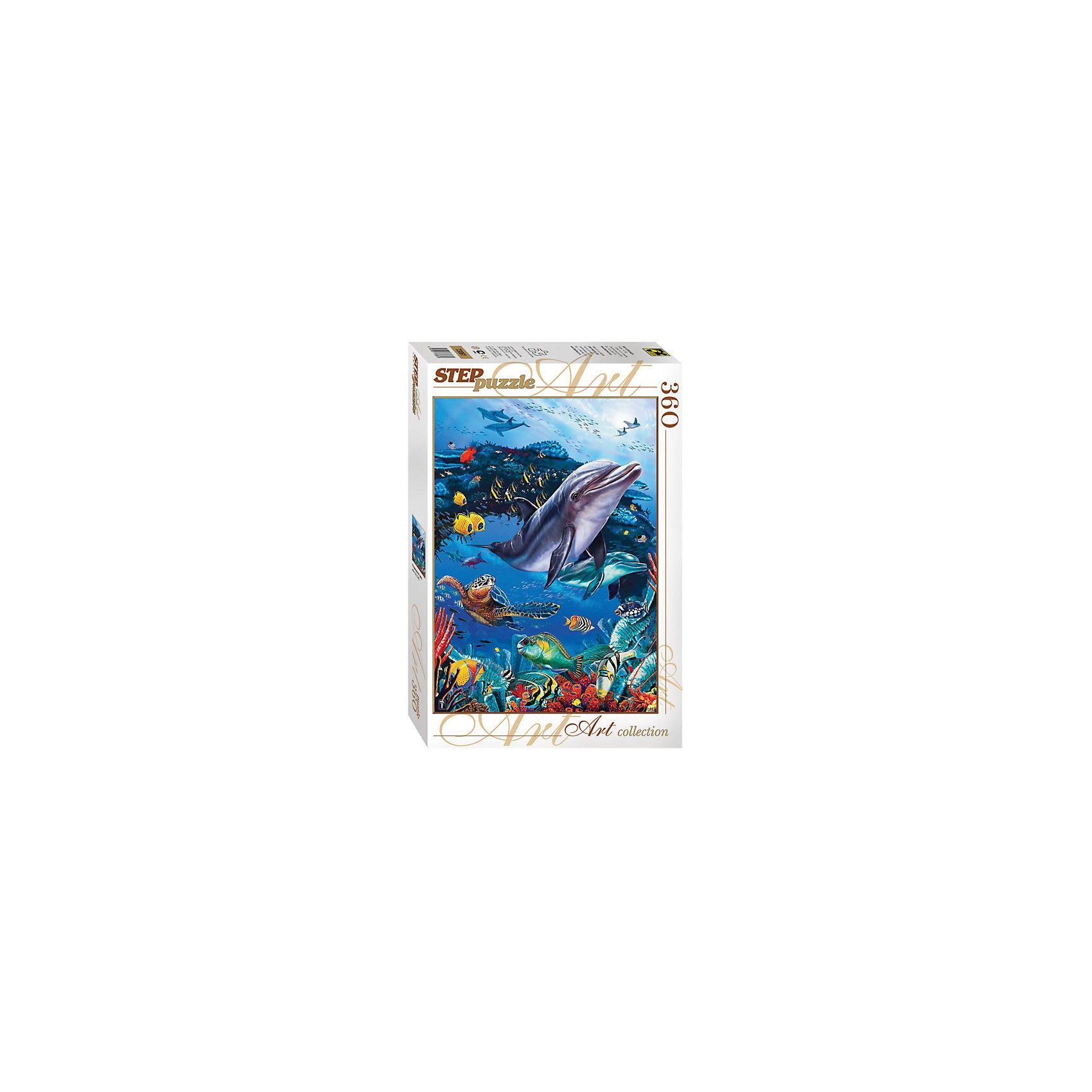 Пазл Подводный мир, 360 деталей, Step PuzzleПазл Подводный мир, 360 деталей, Step Puzzle (Степ Пазл) – это красочный пазл серии «Art collection».<br>Красочный Подводный мир от торговой марки Step Puzzle (Степ Пазл) станет прекрасным подарком, как для малышей, так и для взрослых. Все элементы изготовлены из прочного картона. Качественные фрагменты пазла отлично проклеены, не расслаиваются и идеально подходят один к другому, поэтому сборка пазла обеспечит только положительные эмоции. Собрав все детали, Вы получите яркую картинку с изображением милых обитателей подводного мира. Занятия с пазлом поспособствуют развитию множества полезных навыков, таких как мелкая моторика рук, пространственное мышление, память и наблюдательность.<br><br>Дополнительная информация:<br><br>- Количество деталей: 360<br>- Материал: картон<br>- Размер собранной картины: 34,5х50 см.<br>- Отличная проклейка<br>- Детали идеально подходят друг другу<br>- Упаковка: картонная коробка<br>- Размер упаковки: 335x40x215 мм.<br>- Вес: 400 гр.<br><br>Пазл Подводный мир, 360 деталей, Step Puzzle (Степ Пазл) можно купить в нашем интернет-магазине.<br><br>Ширина мм: 335<br>Глубина мм: 40<br>Высота мм: 215<br>Вес г: 400<br>Возраст от месяцев: 84<br>Возраст до месяцев: 192<br>Пол: Унисекс<br>Возраст: Детский<br>Количество деталей: 360<br>SKU: 4588296