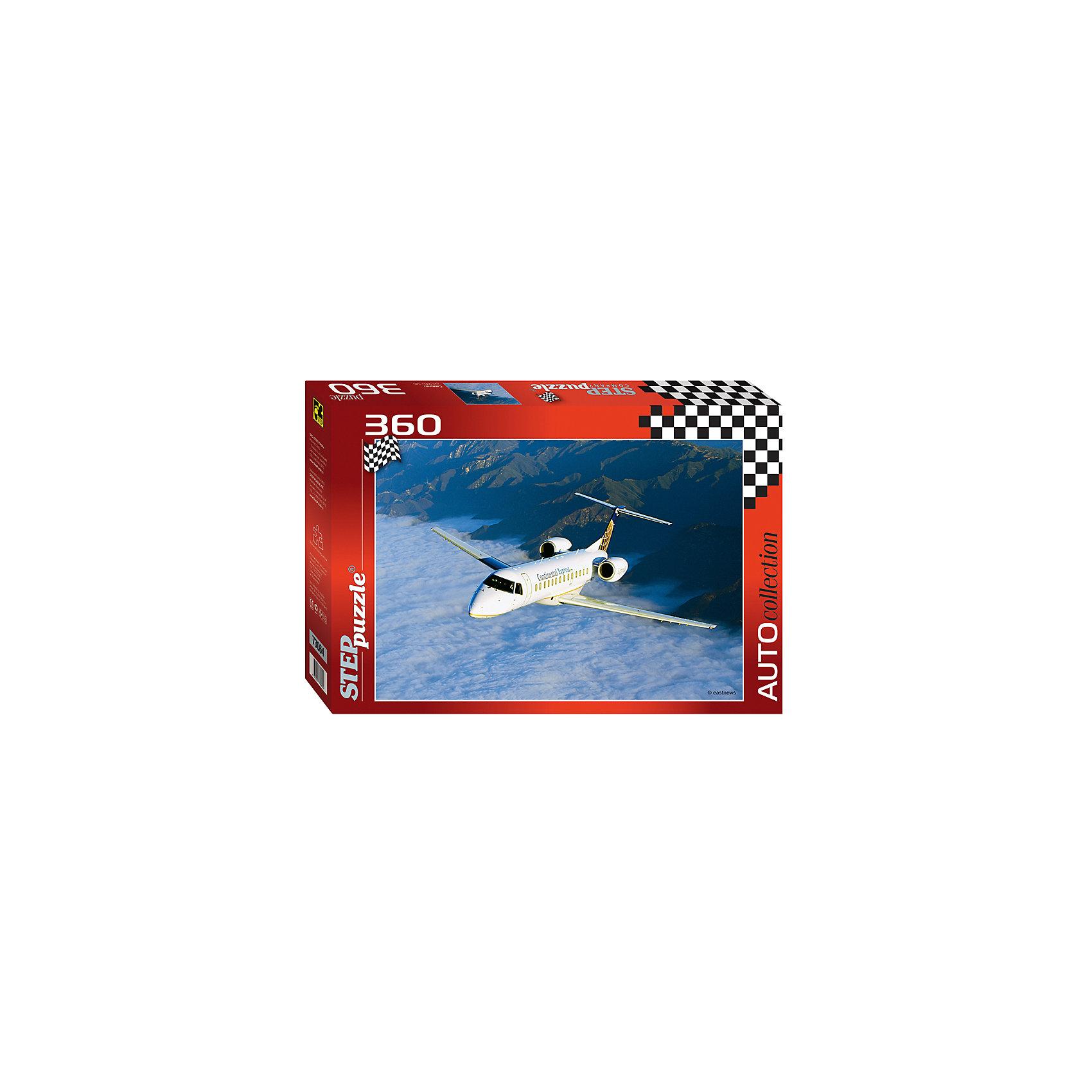 Пазл Самолет, 360 деталей, Step PuzzleПазл Самолет, 360 деталей, Step Puzzle (Степ Пазл) – это красочный пазл  серии «Auto collection».<br>Красочный Самолет от торговой марки Step Puzzle (Степ Пазл) станет прекрасным подарком, как для малышей, так и для взрослых. Все элементы изготовлены из прочного картона. Качественные фрагменты пазла отлично проклеены, не расслаиваются и идеально подходят один к другому, поэтому сборка пазла обеспечит только положительные эмоции. Собрав все детали, Вы получите яркую картинку с изображением небольшого белого самолета, летящего над облаками. Занятия с пазлом поспособствуют развитию множества полезных навыков, таких как мелкая моторика рук, пространственное мышление, память и наблюдательность.<br><br>Дополнительная информация:<br><br>- Количество деталей: 360<br>- Материал: картон<br>- Размер собранной картины: 50х34,5 см.<br>- Отличная проклейка<br>- Детали идеально подходят друг другу<br>- Упаковка: картонная коробка<br>- Размер упаковки: 335x40x215 мм.<br>- Вес: 400 гр.<br><br>Пазл Самолет, 360 деталей, Step Puzzle (Степ Пазл) можно купить в нашем интернет-магазине.<br><br>Ширина мм: 335<br>Глубина мм: 40<br>Высота мм: 215<br>Вес г: 400<br>Возраст от месяцев: 84<br>Возраст до месяцев: 192<br>Пол: Унисекс<br>Возраст: Детский<br>SKU: 4588297