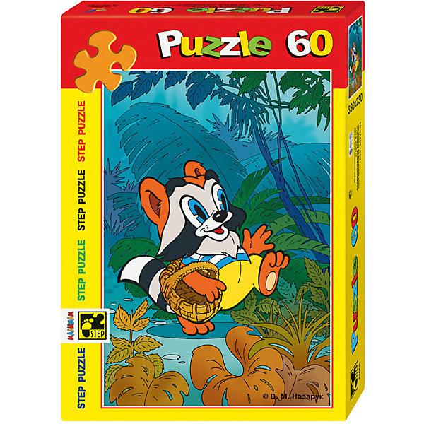 Пазл Крошка Енот, 60 деталей, Step PuzzleПазлы для малышей<br>Пазл Крошка Енот, 60 деталей, Step Puzzle (Степ Пазл) – это замечательный красочный пазл с изображением любимых героев.<br>Подарите ребенку чудесный пазл Крошка Енот, и он будет увлеченно подбирать детали, пока не составит яркую и интересную картинку, на которой изображен мультипликационный герой Крошка Енот, гуляющий по густым тропическим зарослям. Сборка пазла Крошка Енот от Step Puzzle (Степ Пазл) подарит Вашему ребенку не только множество увлекательных вечеров, но и принесет пользу для развития. Координация, моторика, внимательность легко тренируются, пока ребенок увлеченно подбирает детали. Качественные фрагменты пазла отлично проклеены и идеально подходят один к другому, поэтому сборка пазла обеспечит малышу только положительные эмоции. Вы будете использовать этот пазл не один год, ведь благодаря качественной нарезке детали не расслаиваются даже после многократного использования.<br><br>Дополнительная информация:<br><br>- Количество деталей: 60<br>- Материал: картон<br>- Размер собранной картинки: 23х33 см.<br>- Отличная проклейка<br>- Долгий срок службы<br>- Детали идеально подходят друг другу<br>- Яркий сюжет<br>- Упаковка: картонная коробка<br>- Размер упаковки: 195x35x140 мм.<br>- Вес: 400 гр.<br><br>Пазл Крошка Енот, 60 деталей, Step Puzzle (Степ Пазл) можно купить в нашем интернет-магазине.<br><br>Ширина мм: 195<br>Глубина мм: 35<br>Высота мм: 140<br>Вес г: 400<br>Возраст от месяцев: 36<br>Возраст до месяцев: 84<br>Пол: Унисекс<br>Возраст: Детский<br>Количество деталей: 60<br>SKU: 4588304