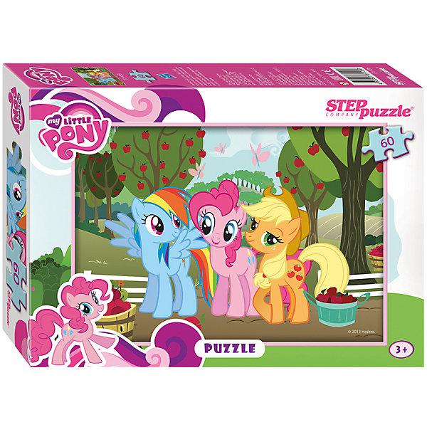 Пазл My little Pony, 60 деталей, Step PuzzleПазлы для малышей<br>Пазл My little Pony, 60 деталей, Step Puzzle (Степ Пазл) – это замечательный красочный пазл с изображением любимых героев.<br>Знаменитые маленькие пони приглашают в свой волшебный мир. Подарите ребенку чудесный пазл My little Pony, и он будет увлеченно подбирать детали, пока не составит яркую и интересную картинку, на которой героини мультфильма Пинки Пай и Рэйнбоу Дэш пришли в гости на яблочную ферму, где их встретила хозяйка фермы Эплджек. Сборка пазла My little Pony от Step Puzzle (Степ Пазл) подарит Вашему ребенку не только множество увлекательных вечеров, но и принесет пользу для развития. Координация, моторика, внимательность легко тренируются, пока ребенок увлеченно подбирает детали. Качественные фрагменты пазла отлично проклеены и идеально подходят один к другому, поэтому сборка пазла обеспечит малышу только положительные эмоции. Вы будете использовать этот пазл не один год, ведь благодаря качественной нарезке детали не расслаиваются даже после многократного использования.<br><br>Дополнительная информация:<br><br>- Количество деталей: 60<br>- Материал: картон<br>- Размер собранной картинки: 33х23 см.<br>- Отличная проклейка<br>- Долгий срок службы<br>- Детали идеально подходят друг другу<br>- Яркий сюжет<br>- Упаковка: картонная коробка<br>- Размер упаковки: 195x35x140 мм.<br>- Вес: 400 гр.<br><br>Пазл My little Pony, 60 деталей, Step Puzzle (Степ Пазл) можно купить в нашем интернет-магазине.<br>Ширина мм: 195; Глубина мм: 35; Высота мм: 140; Вес г: 400; Возраст от месяцев: 36; Возраст до месяцев: 84; Пол: Унисекс; Возраст: Детский; Количество деталей: 60; SKU: 4588305;