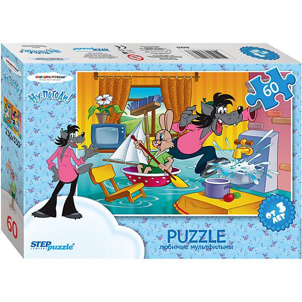 Пазл Ну, погоди!, 60 деталей, Step PuzzleПазлы для малышей<br>Пазл Ну, погоди!, 60 деталей, Step Puzzle (Степ Пазл) – это замечательный красочный пазл с изображением любимых героев.<br>Герои Волк и Заяц из мультфильма Ну, погоди! узнаваемы и любимы многими. Они веселые и озорные, пускаются в приключения и попадают в интересные переделки. Подарите ребенку чудесный пазл Ну, погоди!, и он будет увлеченно подбирать детали, пока не составит яркую и интересную картинку, на которой Волк и Заяц устроили потоп в квартире: Заяц плывет в тазу, а Волк бежит, чтобы закрыть кран. Сборка пазла Ну, погоди! от Step Puzzle (Степ Пазл) подарит Вашему ребенку не только множество увлекательных вечеров, но и принесет пользу для развития. Координация, моторика, внимательность легко тренируются, пока ребенок увлеченно подбирает детали. Качественные фрагменты пазла отлично проклеены и идеально подходят один к другому, поэтому сборка пазла обеспечит малышу только положительные эмоции. Вы будете использовать этот пазл не один год, ведь благодаря качественной нарезке детали не расслаиваются даже после многократного использования.<br><br>Дополнительная информация:<br><br>- Количество деталей: 60<br>- Материал: картон<br>- Размер собранной картинки: 33х23 см.<br>- Отличная проклейка<br>- Долгий срок службы<br>- Детали идеально подходят друг другу<br>- Яркий сюжет<br>- Упаковка: картонная коробка<br>- Размер упаковки: 195x35x140 мм.<br>- Вес: 400 гр.<br><br>Пазл Ну, погоди!, 60 деталей, Step Puzzle (Степ Пазл) можно купить в нашем интернет-магазине.<br>Ширина мм: 195; Глубина мм: 35; Высота мм: 140; Вес г: 400; Возраст от месяцев: 36; Возраст до месяцев: 84; Пол: Унисекс; Возраст: Детский; Количество деталей: 60; SKU: 4588306;
