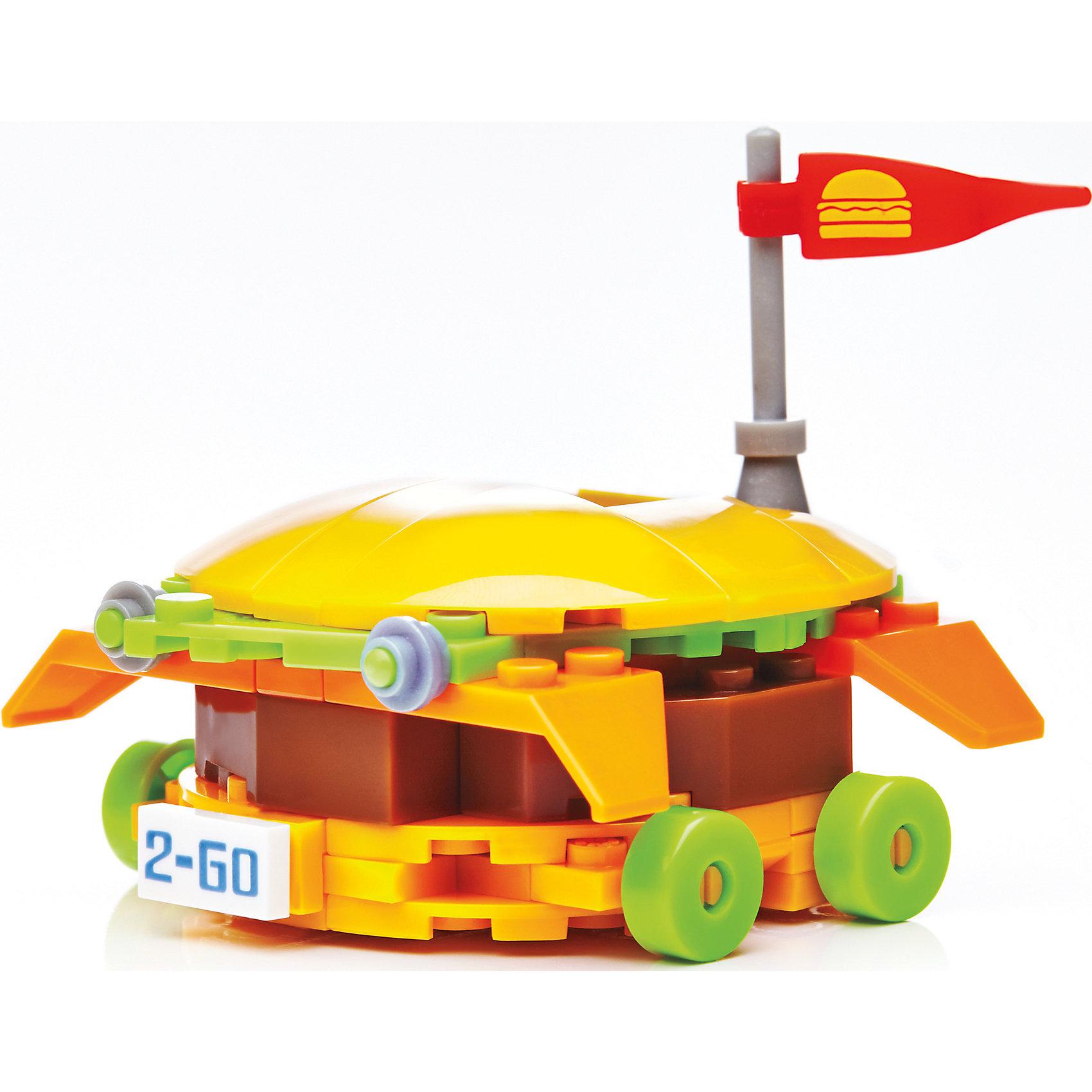 MEGA BLOKS Губка Боб: бургермобиль, MEGA BLOKS фигурка к конструктору mega bloks могучий рейнджер с планером