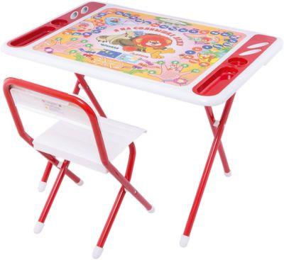 Набор мебели Львенок и черепаха , Дэми, бело-красный