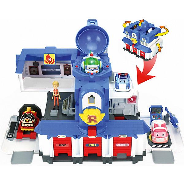 Игровой набор Штабквартира 2.0, Робокар Поли, SilverlitПопулярные игрушки<br>Игровые наборы и отдельные фигурки героев популярного мультсериала «Robocar Poli» понравятся и мальчикам, и девочкам! Проигрывай любимые сюжеты из мультфильмов или придумывай свои новые истории! <br>«Штаб-квартира 2.0» - большой игровой набор Robocar Poli, он превратит любимую игру ребёнка в захватывающее приключение. Всё, что нужно для слаженной работы команды машинок-трансформеров Robocar есть в этом двухэтажном штабе: три гаража для машинок Рой, Поли и Эмбер, площадка для вертолета Хелли, операторская комната с центром управления для Джин, отдельная комната для полицейской машинки, три помещения для ремонта со специальными аксессуарами. Боковые стены штаб квартиры откидываются, открывая четыре помещения, на крыше под куполом расположена вертолетная площадка. Все обозначающие знаки ребенок сможет наклеить самостоятельно. Первый этаж представляет собой шиномонтаж с платформой и подъемным механизмом; диагностическое помещение с компьютером и специальным ручкой – фиксатором; три гаража (дверки поднимаются, два боковых гаража оборудованы кнопкой – когда машинка припаркована, нажав на эту кнопку, малыш сможет вытолкнуть её из гаража без помощи рук). Второй этаж - операторская с компьютером, и 2 дополнительных места для машинок.<br><br>Дополнительная информация:<br><br>- Материал: пластик.<br>- Размер штаб-квартиры: 21х46х26 см. <br>- Комплектация: здание штаб-квартиры (в собранном виде), фигурка Джин, набор тематических наклеек, аксессуары.<br>- Боковые стены откидываются.<br>- Двери гаражей открываются. <br><br>Игровой набор Штаб-квартира 2.0, Робокар Поли, Silverlit, можно купить в нашем магазине.<br><br>Ширина мм: 241<br>Глубина мм: 400<br>Высота мм: 305<br>Вес г: 2290<br>Возраст от месяцев: 36<br>Возраст до месяцев: 84<br>Пол: Мужской<br>Возраст: Детский<br>SKU: 4589901