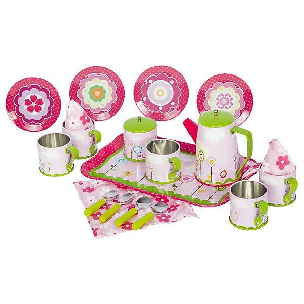 Набор кофейной посуды 22 предмета, Tin SetДетские кухни<br>Прекрасный подарок для девочки - игровой набор чайный сервиз из прочных материалов, он не разобьётся, не причинит вред ребёнку, когда он играется с ней. Теперь маленькая хозяйка сможет пригласить в гости любимую куклу, друзей, или напоить чаем маму и папу.<br><br>Дополнительная информация:<br><br>В наборе: 4 тканевые салфетки, 4 блюдца, 4 ложки, железный поднос, 4 кружки, молочник, сахарница с крышкой и чайник с крышечкой.<br>Материал: металл<br>Размеры упаковки: 41 x 31 x 9 см<br><br>Набор кофейной посуды 22 предмета, Tin Set можно купить в нашем магазине.<br><br>Ширина мм: 410<br>Глубина мм: 310<br>Высота мм: 90<br>Вес г: 770<br>Возраст от месяцев: 36<br>Возраст до месяцев: 72<br>Пол: Женский<br>Возраст: Детский<br>SKU: 4590201