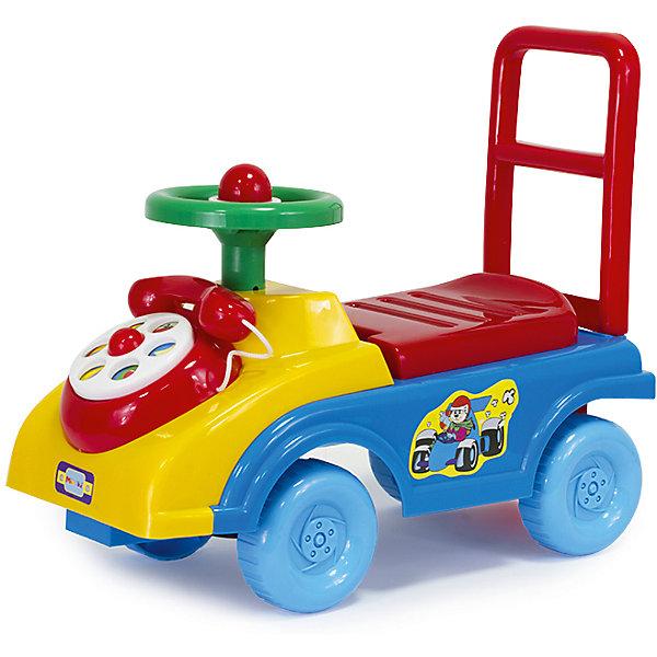Автомобиль-каталка Телефончик (гудок, сиденье-багажник со спинкой, игровые элем.)Машинки-каталки<br>Толокар – это современная машинка-каталка, которая предназначена для детей от 1 года и подходит для игр дома и на улице. Машинка оснащена игровыми элементами, которые помогут развить тактильные ощущения и визуально-звуковое восприятие малыша. Наличие спинки обеспечит удобное положение ребёнка во время игры, а яркий дизайн будет радовать не только детей, но и взрослых!<br><br>Дополнительная информация:<br> <br>- Привлекательный дизайн<br>- Функциональные элементы: спинка-ручка, сиденье-багажник<br>- Развивающая игровая панель<br>- Упаковка на русском языке<br>- Размеры упаковки: 48 x 22 x 40 см<br><br>Автомобиль-каталку Телефончик (гудок, сиденье-багажник со спинкой, игровые элем.) можно купить в нашем магазине.<br>Ширина мм: 480; Глубина мм: 230; Высота мм: 400; Вес г: 2040; Возраст от месяцев: 12; Возраст до месяцев: 36; Пол: Унисекс; Возраст: Детский; SKU: 4590206;