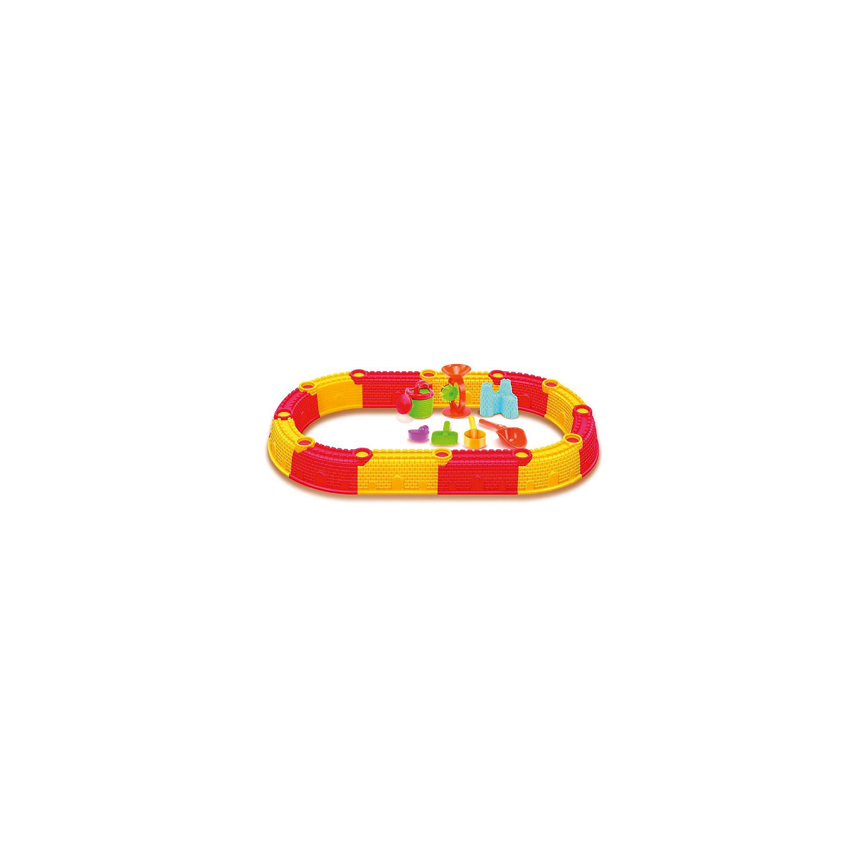 - Сборная песочница (овальная), с набором для песка,  Hualian Toys play toys сборная снего песочная лопатка 70 см