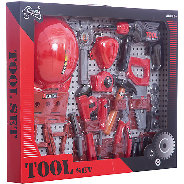 Игровой набор инструментов Своими руками (29 предм.), ALTACTOНаборы инструментов<br>Характеристики товара:<br><br>• возраст: от 3 лет;<br>• размер упаковки: 52х43х7 см.;<br>• количество предметов: 29;<br>• состав: пластик;<br>• упаковка: коробка блистерного типа;<br>• вес в упаковке: 1,1 кг.;<br>• бренд, страна: ALTACTO, Китай;<br>• страна-производитель: Китай.<br><br>Игровой набор инструментов «Своими руками» от Altacto станет отличным подарком для маленького мастера.<br><br>В наборе имеется все, что может пригодиться юному строителю: инерционная дрель, рулетка, каска, молоток, пила, пояс для инструментов, строительный угольник, штангенциркуль, разводной ключ, пассатижи, отвертка, респиратор, верстак, скобяные изделия.<br><br>Все изделия набора изготовлены из нетоксичного и качественного материала.<br><br>Малыш сможет отремонтировать игрушки и устранить все неисправности в доме, помогая папе. Игры с этим набором способствуют развитию воображения и познавательного мышления.<br><br>Игровой набор инструментов «Своими руками», 29 предметов, Altacto можно купить в нашем интернет-магазине.<br>Ширина мм: 530; Глубина мм: 420; Высота мм: 55; Вес г: 1060; Возраст от месяцев: 36; Возраст до месяцев: 72; Пол: Мужской; Возраст: Детский; SKU: 4590215;