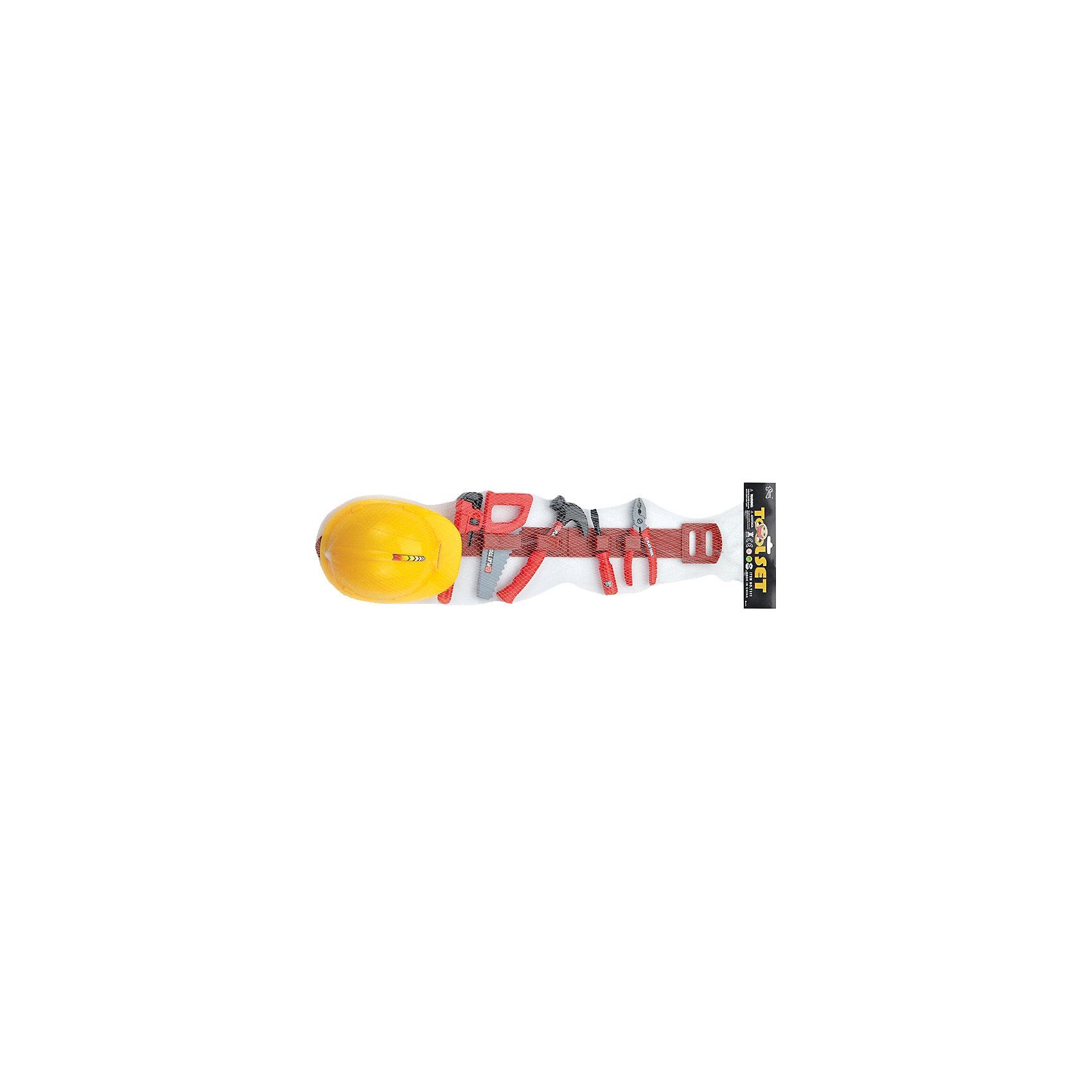 Игровой набор инструментов Умелец (9 предм., на ремне), ALTACTOМастерская и инструменты<br>Набор пластмассовых инструментов с каской из 7 предметов.<br>Все инструменты удобно закрепляются на специальном ремне<br><br>Дополнительная информация:<br><br>Материал: пластик<br>Размеры упаковки: 70 х 21 х 5 см<br><br>Игровой набор инструментов Умелец (9 предм., на ремне), ALTACTO можно купить в нашем магазине.<br><br>Ширина мм: 700<br>Глубина мм: 210<br>Высота мм: 50<br>Вес г: 180<br>Возраст от месяцев: 36<br>Возраст до месяцев: 72<br>Пол: Мужской<br>Возраст: Детский<br>SKU: 4590216