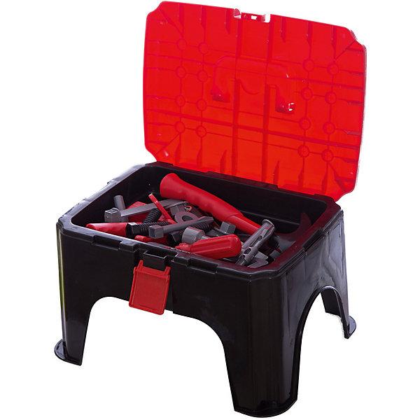 Игровой набор инструментов Верстак (35 предм.), ALTACTOНаборы инструментов<br>Набор пластмассовых инструментов с верстаком из 35 предметов.<br>Все инструменты аккуратно складываются в специальный верстак-стульчик. <br>Набор удобно хранить и переносить.<br><br>Дополнительная информация:<br><br>В наборе 35 предметов: молоток, отвертка, струбцина, шпатель, баллонный ключ, лобзик, рожковый ключ, плоскогубцы, болты, гайки и другие предметы.<br>Материал: пластик<br>Размеры упаковки: 32 х 25 х 19 см<br><br>Игровой набор инструментов Верстак (35 предм.), ALTACTO можно купить в нашем магазине.<br><br>Ширина мм: 320<br>Глубина мм: 250<br>Высота мм: 190<br>Вес г: 1120<br>Возраст от месяцев: 36<br>Возраст до месяцев: 72<br>Пол: Мужской<br>Возраст: Детский<br>SKU: 4590217