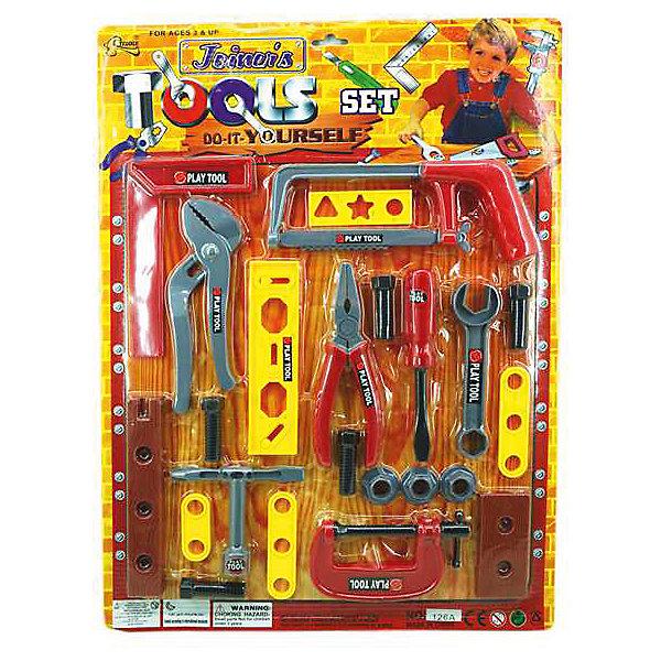 Набор инструментов Домашний ремонт (27 предм.), ALTACTOНаборы инструментов<br>Набор пластмассовых инструментов на блистере из 27 предметов, в ассортименте.<br><br>Дополнительная информация:<br><br>В ассортименте 2 вида набора:<br>Комплектация 1: столярный угольник, баллонный ключ, плоскогубцы, переставные плоскогубцы, ножовка, гайки, болты, отвертка, рожковый ключ, струбцина и прочий инструмент.<br>Комплектация 2: молоток, болты и гайки, отвертка, клин, плоскогубцы, шпатель, разводной ключ и прочий инструмент.<br><br>ВНИМАНИЕ! Данный артикул представлен в разных вариантах исполнения. К сожалению, заранее выбрать определенный вариант невозможно.<br><br>Набор инструментов Домашний ремонт (27 предм.), ALTACTO можно купить в нашем магазине.<br>Ширина мм: 520; Глубина мм: 385; Высота мм: 20; Вес г: 250; Возраст от месяцев: 36; Возраст до месяцев: 72; Пол: Мужской; Возраст: Детский; SKU: 4590222;