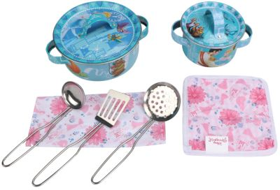 Disney Набор кухонной посуды Прекрасная принцесса (9 предм., металл.), Принцессы Дисней