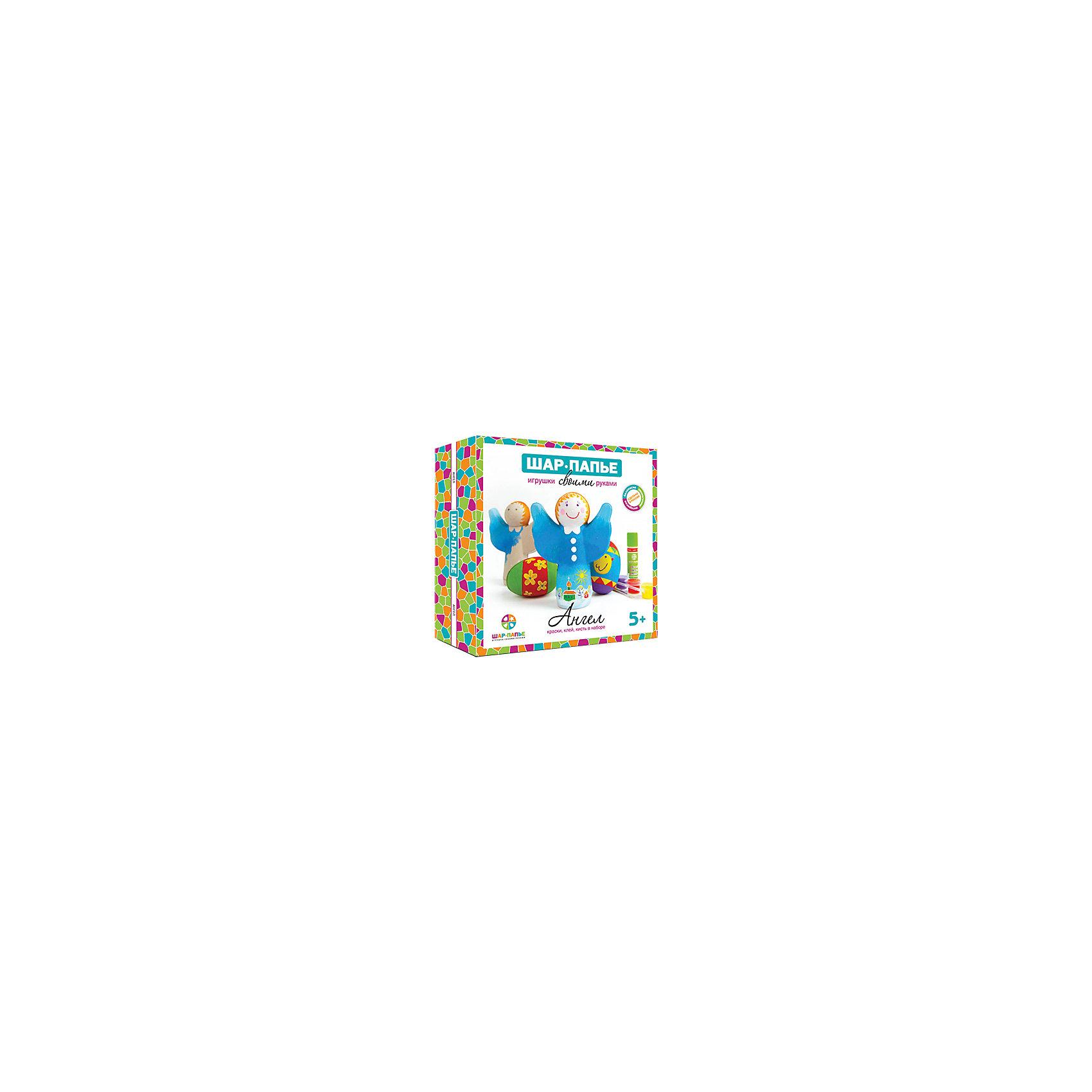 Набор для раскрашивания Ангел из Шар-ПапьеНаборы для раскрашивания<br>Набор для раскрашивания Ангел из Шар-Папье – этот набор совмещает в себе интересный досуг и неограниченный простор для творчества.<br>С набором Ангел из Шар-Папье ваш ребенок сделает свой первый шаг в мир искусства, создавая чудесные игрушки ручной работы. Игрушки, которые ему предстоит сотворить, представляют собой объемную фигурку ангела и 2 яйца. Сначала нужно соединить части фигурок, изготовленные по технологии шар-папье, а затем расписать фигурки так, как подскажет фантазия. Придуманный уникальный дизайн сделает игрушки неповторимыми и притягивающими взгляды. Творческий процесс заинтересует и взрослого, ведь возможности для декорирования игрушек по-настоящему безграничны. А это значит, что набор для раскрашивания Ангел из Шар-Папье идеально подойдет для совместного семейного творчества и наполнит ваши домашние вечера новыми радостными впечатлениями.<br><br>Дополнительная информация:<br><br>- В наборе: заготовки из прессованной бумажной массы (папье-маше), вставки из гофрокартона, шнурок, краски 6 цветов, кисть, клей, подробная инструкция<br>- Размер упаковки: 19,3х19,3х5 см.<br>- Вес: 145 гр.<br><br>Набор для раскрашивания Ангел из Шар-Папье можно купить в нашем интернет-магазине.<br><br>Ширина мм: 193<br>Глубина мм: 193<br>Высота мм: 50<br>Вес г: 145<br>Возраст от месяцев: 36<br>Возраст до месяцев: 168<br>Пол: Унисекс<br>Возраст: Детский<br>SKU: 4591067