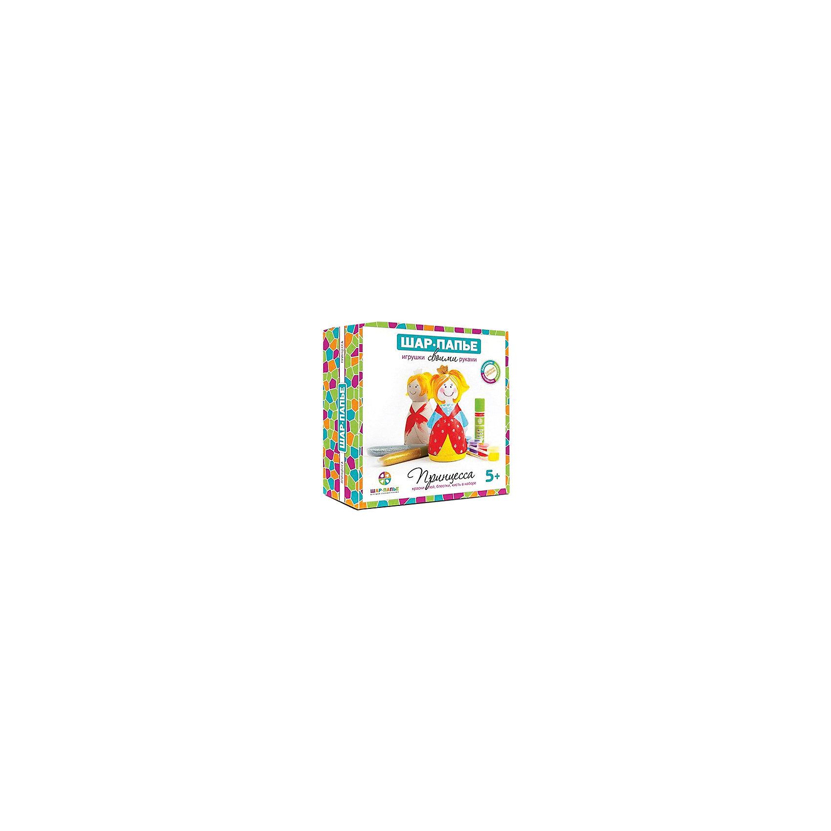 Набор для раскрашиванияПринцесса из Шар-ПапьеНабор для раскрашиванияПринцесса из Шар-Папье – этот набор совмещает в себе интересный досуг и неограниченный простор для творчества.<br>С набором для раскрашивания Принцесса из Шар-Папье ваш ребенок сделает свой первый шаг в мир искусства, создавая чудесную игрушку ручной работы. Игрушка, которые ему предстоит сотворить, представляет собой объемную фигурку принцессы. Сначала нужно соединить части фигурки, изготовленные по технологии шар-папье, а затем расписать фигурку так, как подскажет фантазия. Придуманный уникальный дизайн сделает игрушку неповторимой и притягивающей взгляды. Творческий процесс заинтересует и взрослого, ведь возможности для декорирования игрушки по-настоящему безграничны. А это значит, что набор для раскрашивания Принцесса из Шар-Папье идеально подойдет для совместного семейного творчества и наполнит ваши домашние вечера новыми радостными впечатлениями.<br><br>Дополнительная информация:<br><br>- В наборе: 2 объемные заготовки из спрессованной бумажной массы (папье-маше), вкладыш из гофрокартона, подставка, акриловые краски (белая, черная, красная, желтая, зеленая, синяя),  2 тюбика с блестками (золотистые и серебристые), кисточка №3,  клей, веревочка, инструкция<br>- Размер упаковки: 15,3х15,3х4,5 см.<br>- Вес: 135 гр.<br><br>Набор для раскрашивания Принцесса из Шар-Папье можно купить в нашем интернет-магазине.<br><br>Ширина мм: 153<br>Глубина мм: 153<br>Высота мм: 45<br>Вес г: 135<br>Возраст от месяцев: 36<br>Возраст до месяцев: 168<br>Пол: Унисекс<br>Возраст: Детский<br>SKU: 4591079