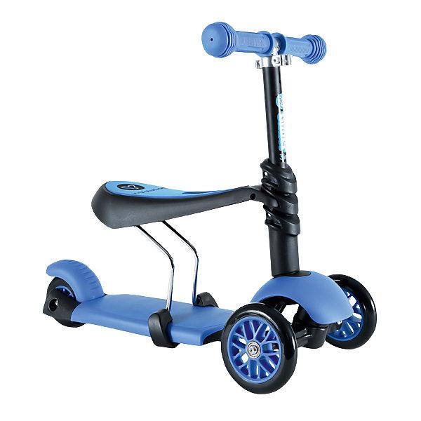 Трехколесный самокат Y-volution Glider 3 в 1, синийСамокаты<br>Характеристики товара:<br><br>• возраст: от 1,5 лет;<br>• максимальная нагрузка: 20 кг;<br>• материал: металл, пластик;<br>• регулируемый руль;<br>• диаметр передних колес: 120 мм;<br>• материал колес: полиуретан;<br>• подшипник АВЕС 3;<br>• ножной тормоз;<br>• вес самоката: 3,2 кг;<br>• размер упаковки: 60х41х65 см;<br>• вес упаковки: 3,2 кг;<br>• страна производитель: Китай.<br><br>Трехколесный самокат Glider 3 в 1 Yvolution синий разнообразит детскую прогулку на свежем воздухе, научит малыша координировать движения и держать равновесие. Самокат трансформируется в зависимости от возраста ребенка и может использоваться в 3 вариантах. Для детей, которые только начинают кататься на самокате, на него устанавливается удобное сидение. Сидя на нем, малыш отталкивается ножками от земли и учится основным движениям. Для ребенка постарше сидение убирается, рулевая стойка поднимается, и самокат используется в классическом варианте. <br><br>Руль можно отрегулировать в зависимости от роста ребенка, адаптировав его под растущего малыша. Ручки руля покрыты нескользящими прорезиненными накладками. Дека с противоскользящей поверхностью гарантирует безопасное катание и препятствует соскальзывание во время езды. 2 передних колеса придают хорошей устойчивости. Ножной тормоз обеспечивает быстрое торможение перед препятствием.<br><br>Трехколесный самокат Glider 3 в 1 Yvolution синий можно приобрести в нашем интернет-магазине.<br><br>Ширина мм: 605<br>Глубина мм: 155<br>Высота мм: 285<br>Вес г: 3960<br>Цвет: синий<br>Возраст от месяцев: 18<br>Возраст до месяцев: 2147483647<br>Пол: Мужской<br>Возраст: Детский<br>SKU: 4592669