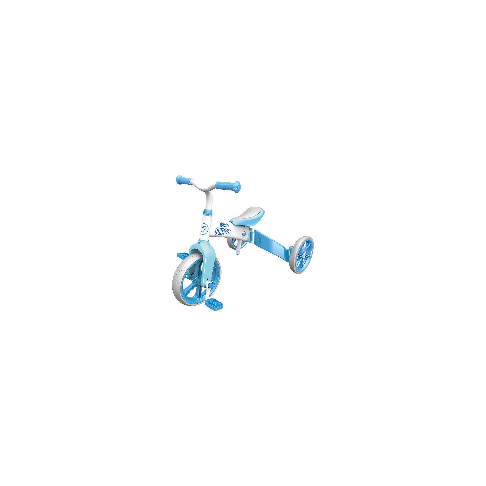 Беговел - трехколесный велосипед  Velo Flippa, голубой, Y-volutionБеговелы<br><br><br>Ширина мм: 645<br>Глубина мм: 462<br>Высота мм: 208<br>Вес г: 6267<br>Цвет: синий<br>Возраст от месяцев: 36<br>Возраст до месяцев: 60<br>Пол: Мужской<br>Возраст: Детский<br>SKU: 4592673