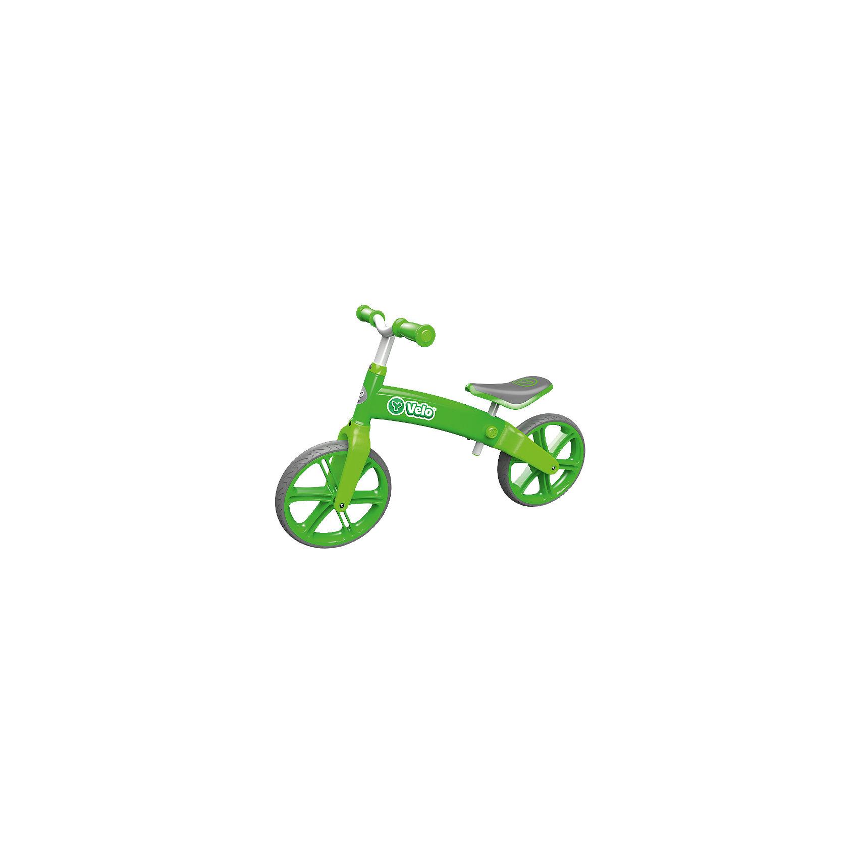 Двухколесный беговел Velo Balance, зеленый, Y-BikeБеговелы<br><br><br>Ширина мм: 624<br>Глубина мм: 291<br>Высота мм: 200<br>Вес г: 4632<br>Цвет: зеленый<br>Возраст от месяцев: 36<br>Возраст до месяцев: 60<br>Пол: Унисекс<br>Возраст: Детский<br>SKU: 4592674