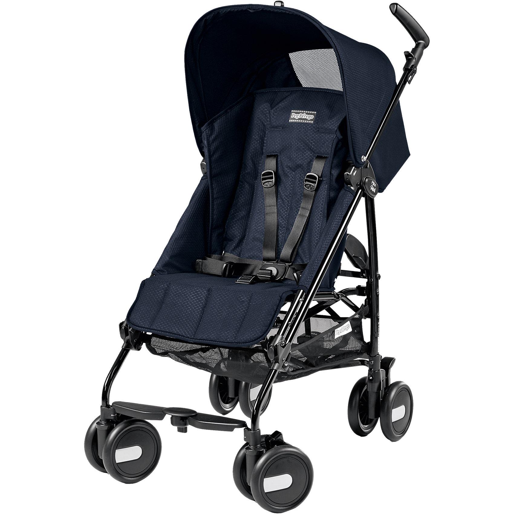 Peg Perego Прогулочная коляска Pliko Mini + бампер передний, Peg-Perego, Mod Navy синий