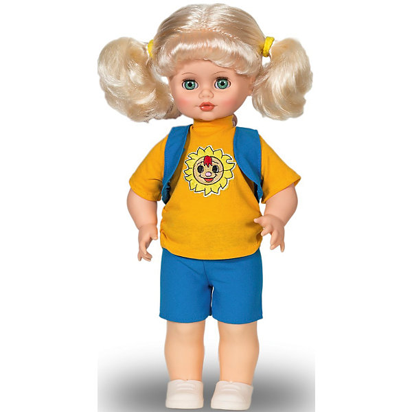Кукла Инна, со звуком,  43 см, ВеснаКуклы<br>Эта очаровательная белокурая красавица покорит сердце любой девочки! Куколка одета в голубой вязаный комбинезон и меховую жилетку, на ногах - белые ботиночки. Волосы Инны мягкие и послушные, их очень приятно расчесывать, создавая различные прически. Кукла оснащена звуковым модулем, она умеет произносить фразы и предложения, которые не только порадуют девочку, но и помогут ей расширить свой словарный запас, откроют возможности для различных игровых сюжетов. Игрушка выполнена из высококачественных нетоксичных материалов абсолютно безопасных для детей.<br><br>Дополнительная информация:<br><br>- Материал: пластизол, пластик, текстиль.<br>- Размер: 43 см.<br>- Комплектация: кукла в одежде и обуви. <br>- Звуковые эффекты: фразы и предложения. <br>- Голова, руки, ноги подвижные.<br>- Глаза могут закрываться. <br><br>Куклу Инну, со звуком, 43 см, Весна, можно купить в нашем магазине.<br>Ширина мм: 210; Глубина мм: 130; Высота мм: 430; Вес г: 550; Возраст от месяцев: 36; Возраст до месяцев: 120; Пол: Женский; Возраст: Детский; SKU: 4595141;