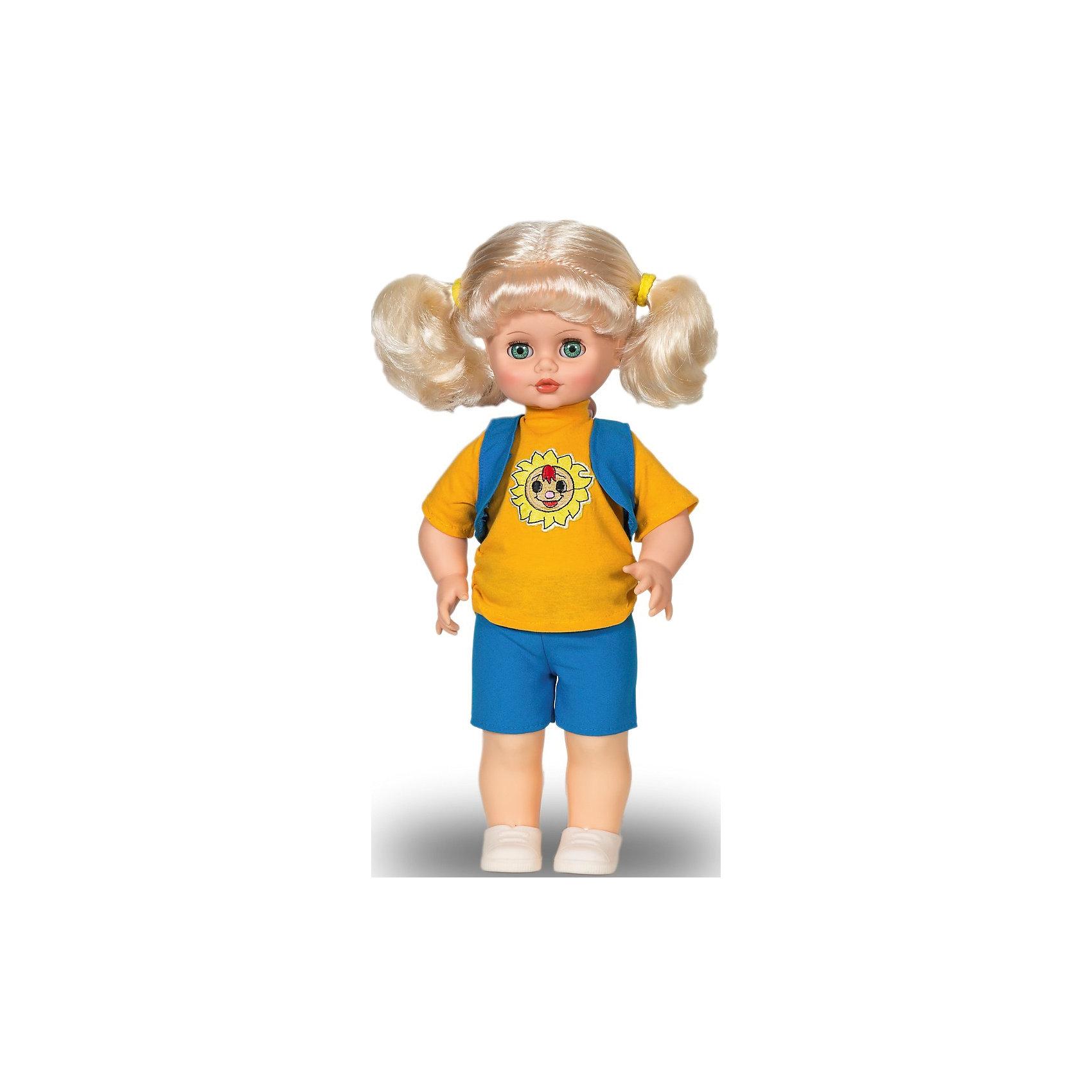 Кукла Инна, со звуком,  43 см, ВеснаЭта очаровательная белокурая красавица покорит сердце любой девочки! Куколка одета в голубой вязаный комбинезон и меховую жилетку, на ногах - белые ботиночки. Волосы Инны мягкие и послушные, их очень приятно расчесывать, создавая различные прически. Кукла оснащена звуковым модулем, она умеет произносить фразы и предложения, которые не только порадуют девочку, но и помогут ей расширить свой словарный запас, откроют возможности для различных игровых сюжетов. Игрушка выполнена из высококачественных нетоксичных материалов абсолютно безопасных для детей.<br><br>Дополнительная информация:<br><br>- Материал: пластизол, пластик, текстиль.<br>- Размер: 43 см.<br>- Комплектация: кукла в одежде и обуви. <br>- Звуковые эффекты: фразы и предложения. <br>- Голова, руки, ноги подвижные.<br>- Глаза могут закрываться. <br><br>Куклу Инну, со звуком, 43 см, Весна, можно купить в нашем магазине.<br><br>Ширина мм: 210<br>Глубина мм: 130<br>Высота мм: 430<br>Вес г: 550<br>Возраст от месяцев: 36<br>Возраст до месяцев: 120<br>Пол: Женский<br>Возраст: Детский<br>SKU: 4595141