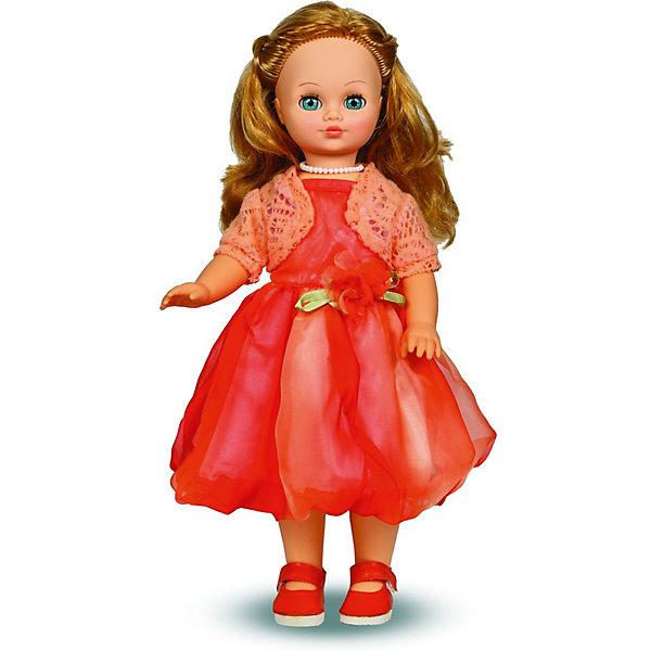 Кукла Лиза, со звуком,  42 см, ВеснаКуклы<br>Эта очаровательная белокурая красавица покорит сердце любой девочки! Куколка одета в розовое бальное платье, украшенное цветком и нежный вязаный жакет-болеро, на ногах - миниатюрные туфельки. Волосы Лизы мягкие и послушные, из них получится множество замечательных причесок. Кукла оснащена звуковым модулем, она умеет произносить фразы и предложения, которые не только порадуют девочку, но и помогут ей расширить свой словарный запас, откроют возможности для различных игровых сюжетов. Игрушка выполнена из высококачественных нетоксичных материалов абсолютно безопасных для детей.<br><br>Дополнительная информация:<br><br>- Материал: пластизол, пластик, текстиль.<br>- Размер: 42 см.<br>- Комплектация: кукла в одежде и обуви. <br>- Фразы и предложения: Теперь ты моя подруга, Ты не забыла - сегодня мы идем на праздник, Нам нужно быть красивыми, <br>Сделай мне прическу!, Получилось очень красиво!, Теперь себе, Не забудь про маникюр, А нарядное платье?, Мы сегодня самые красивые!, <br>- Голова, руки, ноги подвижные.<br>- Глаза могут закрываться. <br><br>Куклу Лизу, со звуком, 42 см, Весна, можно купить в нашем магазине.<br>Ширина мм: 420; Глубина мм: 240; Высота мм: 440; Вес г: 750; Возраст от месяцев: 36; Возраст до месяцев: 120; Пол: Женский; Возраст: Детский; SKU: 4595144;