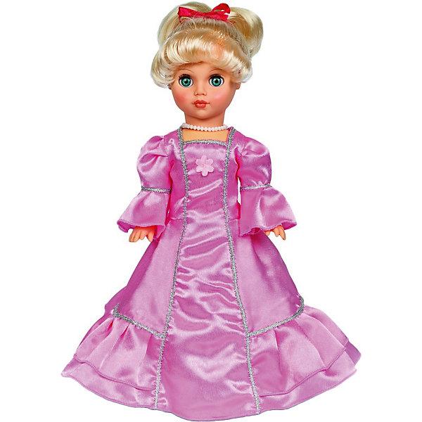 Кукла Мила, 42 см, ВеснаКуклы<br>Эта очаровательная белокурая красавица покорит сердце любой девочки! Куколка одета в белое бальное платье, с пышной юбкой, образ дополняют маленькие изысканные бусики, на ногах - миниатюрные туфельки. Волосы Милы мягкие и послушные, из них получится множество замечательных причесок. Игрушка выполнена из высококачественных нетоксичных материалов абсолютно безопасных для детей.<br><br>Дополнительная информация:<br><br>- Материал: пластизол, пластик, текстиль.<br>- Размер: 42 см.<br>- Комплектация: кукла в одежде и обуви. <br>- Голова, руки, ноги подвижные.<br>- Глаза могут закрываться. <br><br>Куклу Милу,42 см, Весна, можно купить в нашем магазине.<br>Ширина мм: 170; Глубина мм: 100; Высота мм: 420; Вес г: 310; Возраст от месяцев: 36; Возраст до месяцев: 120; Пол: Женский; Возраст: Детский; SKU: 4595145;