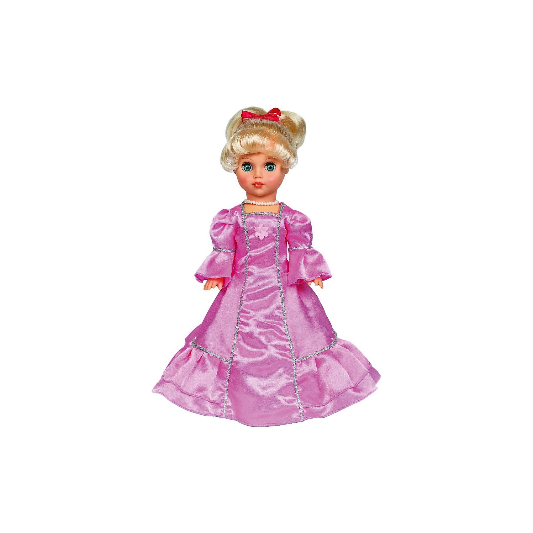 Кукла Мила, 42 см, ВеснаЭта очаровательная белокурая красавица покорит сердце любой девочки! Куколка одета в белое бальное платье, с пышной юбкой, образ дополняют маленькие изысканные бусики, на ногах - миниатюрные туфельки. Волосы Милы мягкие и послушные, из них получится множество замечательных причесок. Игрушка выполнена из высококачественных нетоксичных материалов абсолютно безопасных для детей.<br><br>Дополнительная информация:<br><br>- Материал: пластизол, пластик, текстиль.<br>- Размер: 42 см.<br>- Комплектация: кукла в одежде и обуви. <br>- Голова, руки, ноги подвижные.<br>- Глаза могут закрываться. <br><br>Куклу Милу,42 см, Весна, можно купить в нашем магазине.<br><br>Ширина мм: 170<br>Глубина мм: 100<br>Высота мм: 420<br>Вес г: 310<br>Возраст от месяцев: 36<br>Возраст до месяцев: 120<br>Пол: Женский<br>Возраст: Детский<br>SKU: 4595145