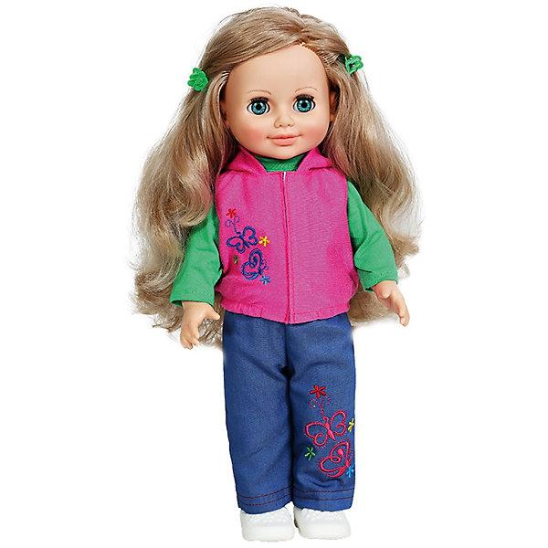 Кукла Анна 6, со звуком, ВеснаКуклы<br>Эта очаровательная белокурая красавица покорит сердце любой девочки! Куколка одета в стильный наряд, состоящий из зеленой водолазки, розовой жилетки и синих брючек. Жилетка и брюки украшены оригинальной вышивкой. Волосы Анны мягкие и послушные, из них получится множество замечательных причесок. Кукла оснащена звуковым модулем, она умеет произносить фразы и предложения, которые не только порадуют девочку, но и помогут ей расширить свой словарный запас, откроют возможности для различных игровых сюжетов. Игрушка выполнена из высококачественных нетоксичных материалов абсолютно безопасных для детей.<br><br>Дополнительная информация:<br><br>- Материал: пластизол, пластик, текстиль.<br>- Размер: 42 см.<br>- Комплектация: кукла в одежде и обуви. <br>- Звуковые эффекты: фразы и предложения. <br>- Голова, руки, ноги подвижные.<br>- Глаза могут закрываться. <br><br>Куклу Анну, со звуком, Весна, можно купить в нашем магазине.<br><br>Ширина мм: 490<br>Глубина мм: 210<br>Высота мм: 130<br>Вес г: 550<br>Возраст от месяцев: 36<br>Возраст до месяцев: 120<br>Пол: Женский<br>Возраст: Детский<br>SKU: 4595146