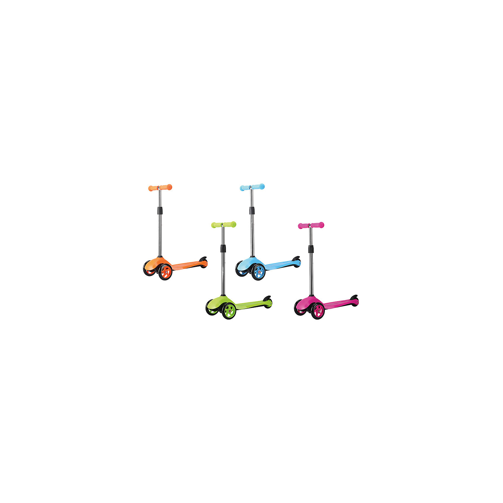 Трехколесный самокат (алюминиевый), ROING SCOOTERS, до 40 кг, в ассортиментеСамокат ROING SCOOTERS - прекрасный вариант для вашего ребенка. Самокат сделан из легкого и прочного алюминия, имеет регулируемый по высоте руль. Широкие передние колеса среднего размера хорошо амортизируют, делают самокат более устойчивым и проходимым. С помощью наклона рулевой стойки ребенок сможет изменять направление своего движения. Прорезиненные ручки исключают скольжение, широкая рифленая платформа обеспечивает безопасность. Идеальный вариант для активного отдыха детей. Катание на самокате стимулирует ребенка к физической активности на свежем отдыхе, помогает развить различные группы мышц и укрепить иммунитет. <br><br>Дополнительная информация:<br><br>- Материал: алюминий, полиуретан, пластик. <br>- Количество колес: 3.<br>- Подшипники: ABEC5.<br>- Широкая пластиковая платформа.<br>- Регулируемый по высоте руль (3 положения).<br>- Максимальная высота руля: 65 см.<br>- Прорезиненные ручки. <br>- Размер: 59х27х57 см.<br>- Максимальная нагрузка: 40 кг.<br>- Вес: 2,4 кг.<br>- 4 цвета в ассортименте. <br>ВНИМАНИЕ! Данный артикул представлен в разных цветовых вариантах. К сожалению, заранее выбрать определенный вариант невозможно. При заказе нескольких самокатов возможно получение одинаковых.<br><br>Трехколесный самокат (алюминиевый), ROING SCOOTERS, до 40 кг, в ассортименте, можно купить в нашем магазине.<br><br>Ширина мм: 600<br>Глубина мм: 145<br>Высота мм: 28<br>Вес г: 2480<br>Возраст от месяцев: 36<br>Возраст до месяцев: 192<br>Пол: Унисекс<br>Возраст: Детский<br>SKU: 4595149