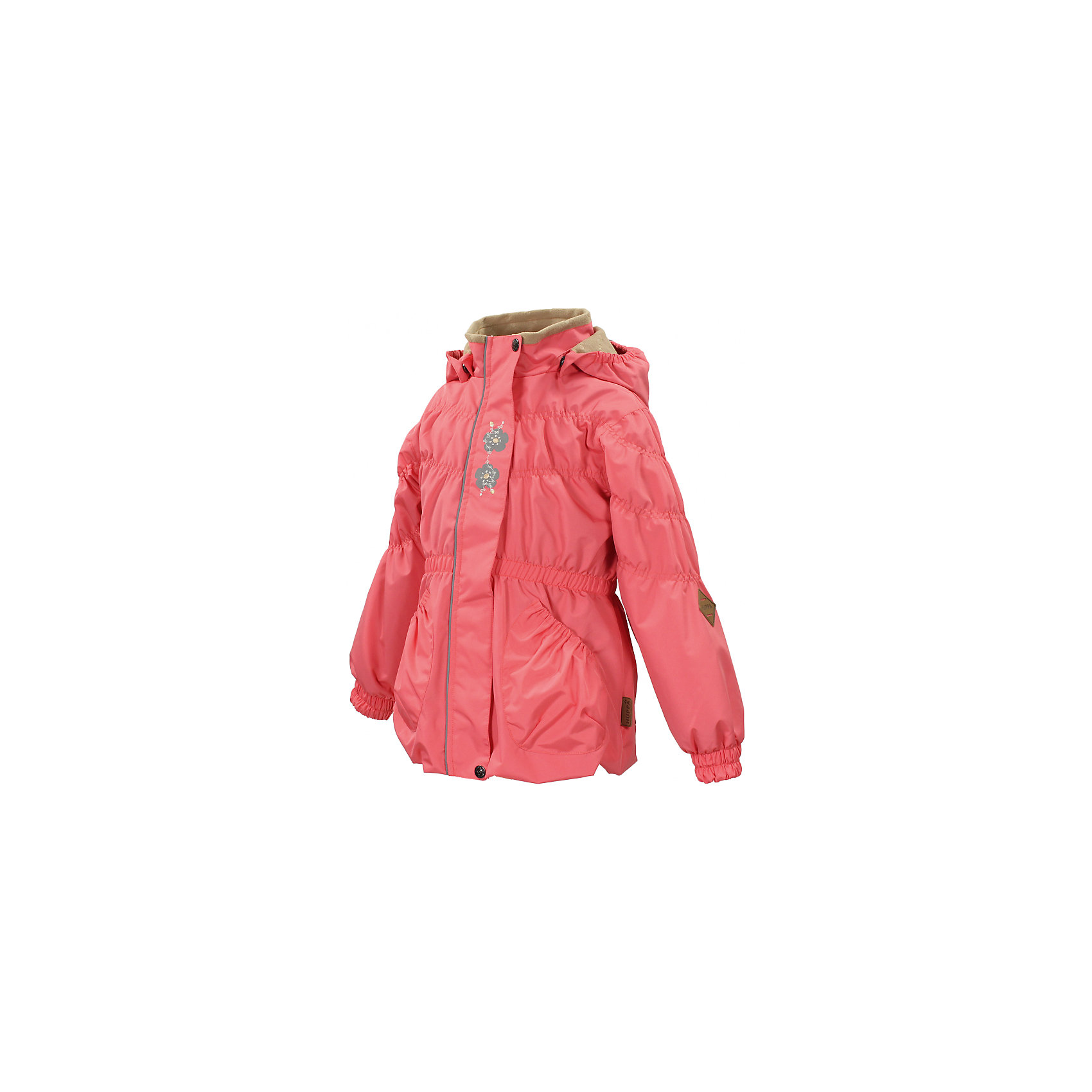 Куртка для девочки HuppaВерхняя одежда<br>Влагоустойчивая и дышащая ткань 10 000/ 10 000<br>Мембрана препятствует прохождению воды и ветра сквозь ткань внутрь изделия, позволяя испаряться выделяемой телом, образовывающейся внутри влаге.<br><br>Проклеенные швы<br>Для максимальной влагонепроницаемости изделия, важнейшие швы проклеены водостойкой лентой.<br><br>Прочная ткань<br>Сплетения волокон в тканях выполнены по специальной технологии, которая придаёт ткани прочность и предохранят от истирания.<br><br>Светоотражательные детали<br>При плохих погодных условиях или в темноте, когда свет падает на одежду, он отражается, делая ребёнка более заметным, уменьшая возможность несчастных случаев.<br><br>Дополнительная информация:<br><br><br>Куртка для девочек<br>Ткань: 100% полиэстер<br>Подкладка: флис - 100% полиэстер, тафта в рукавах - 100% полиэстер<br>Внутренний карман<br>Плечевые швы проклеены<br><br>Куртку для девочки Huppa можно купить в нашем магазине.<br><br>Ширина мм: 356<br>Глубина мм: 10<br>Высота мм: 245<br>Вес г: 519<br>Цвет: розовый<br>Возраст от месяцев: 36<br>Возраст до месяцев: 48<br>Пол: Женский<br>Возраст: Детский<br>Размер: 104,110,128,134,122,116<br>SKU: 4595322