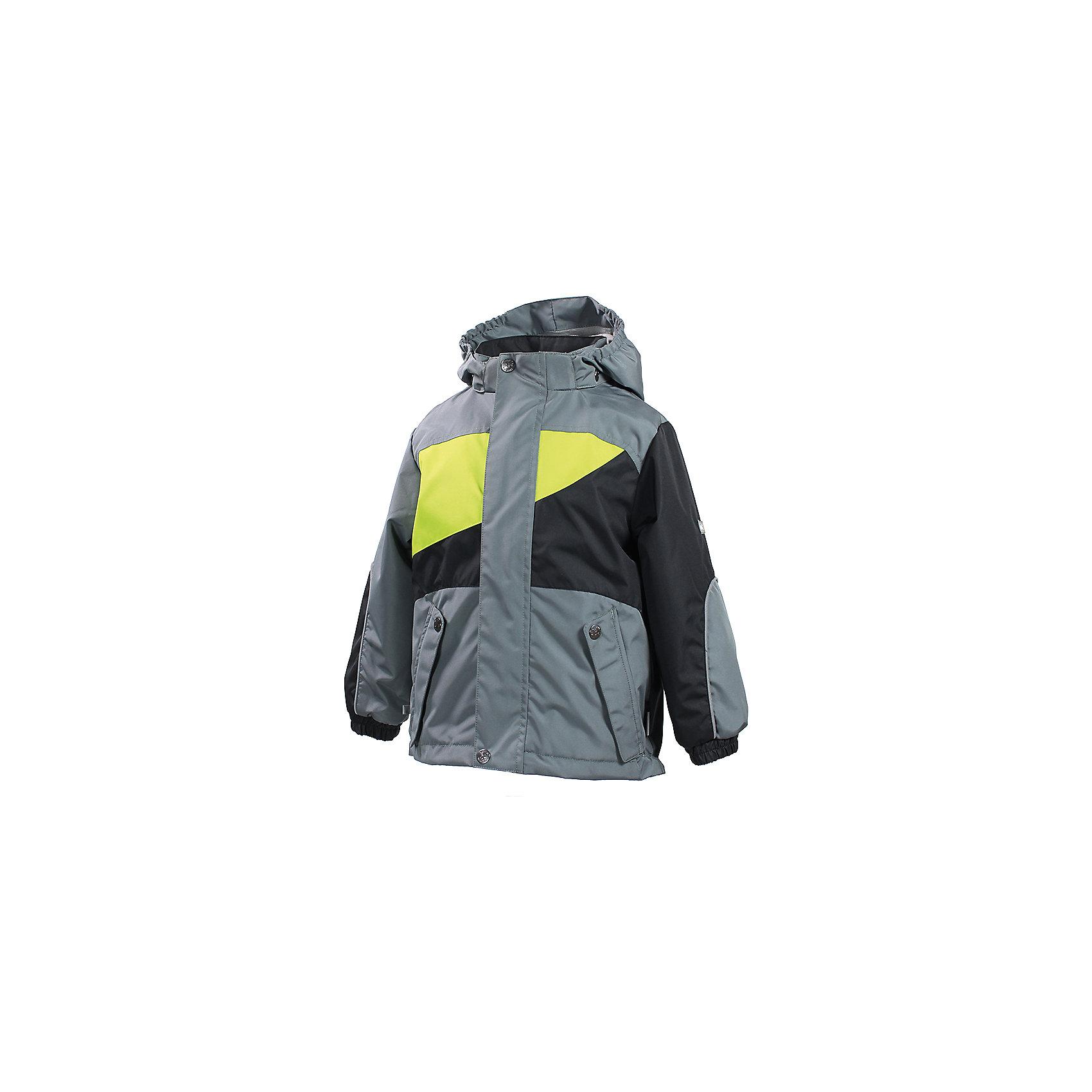 Куртка для мальчика HuppaВерхняя одежда<br>Влагоустойчивая и дышащая ткань 10 000/ 10 000<br>Мембрана препятствует прохождению воды и ветра сквозь ткань внутрь изделия, позволяя испаряться выделяемой телом, образовывающейся внутри влаге.<br><br>Проклеенные швы<br>Для максимальной влагонепроницаемости изделия, важнейшие швы проклеены водостойкой лентой.<br><br>Прочная ткань<br>Сплетения волокон в тканях выполнены по специальной технологии, которая придаёт ткани прочность и предохранят от истирания.<br><br>Светоотражательные детали<br>При плохих погодных условиях или в темноте, когда свет падает на одежду, он отражается, делая ребёнка более заметным, уменьшая возможность несчастных случаев.<br><br>Дополнительная информация:<br><br><br>Ткань: 100% полиэстер<br>Подкладка: флис - 100% полиэстер, тафта в рукавах - 100% полиэстер<br>Внутренний карман<br>Плечевые швы проклеены<br><br>Куртку для мальчика Huppa можно купить в нашем магазине.<br><br>Ширина мм: 356<br>Глубина мм: 10<br>Высота мм: 245<br>Вес г: 519<br>Цвет: серый<br>Возраст от месяцев: 48<br>Возраст до месяцев: 60<br>Пол: Мужской<br>Возраст: Детский<br>Размер: 110,104,122,128,140,134,116<br>SKU: 4595347