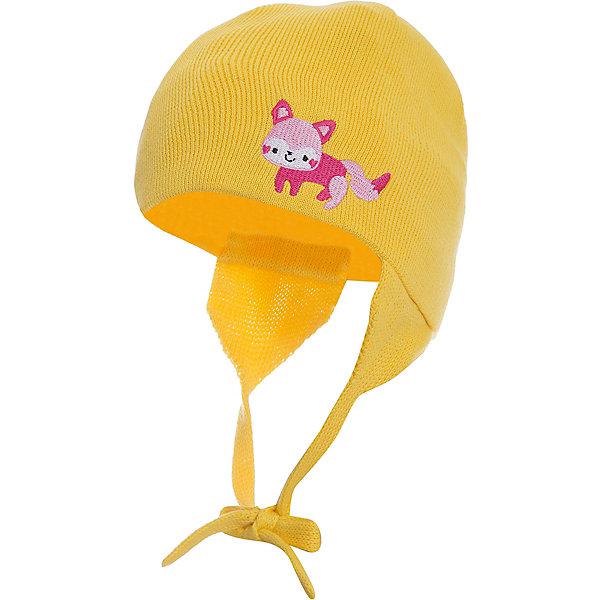 Шапка Huppa Doody для девочкиГоловные уборы<br>Характеристики товара:<br><br>• модель: Doody;<br>• цвет: желтый;<br>• состав: 100% хлопок;<br>• температурный режим: от 0°С до +10°С;<br>• сезон: демисезон;<br>• особенности: вязаная;<br>• шапка на завязках;<br>• декорирована аппликацией;<br>• светоотражающий элемент;<br>• страна бренда: Эстония;<br>• страна изготовитель: Эстония.<br><br>Демисезонная вязаная шапка. Шапка с мягкой резинкой, которая не давит. Шапка на завязках декорирована аппликацией спереди. Дополнена светоотражающим элементом.<br><br>Шапку Doody от бренда Huppa (Хуппа) можно купить в нашем интернет-магазине.<br>Ширина мм: 89; Глубина мм: 117; Высота мм: 44; Вес г: 155; Цвет: желтый; Возраст от месяцев: 12; Возраст до месяцев: 24; Пол: Женский; Возраст: Детский; Размер: 47-49,51-53,43-45,39-43; SKU: 4595790;