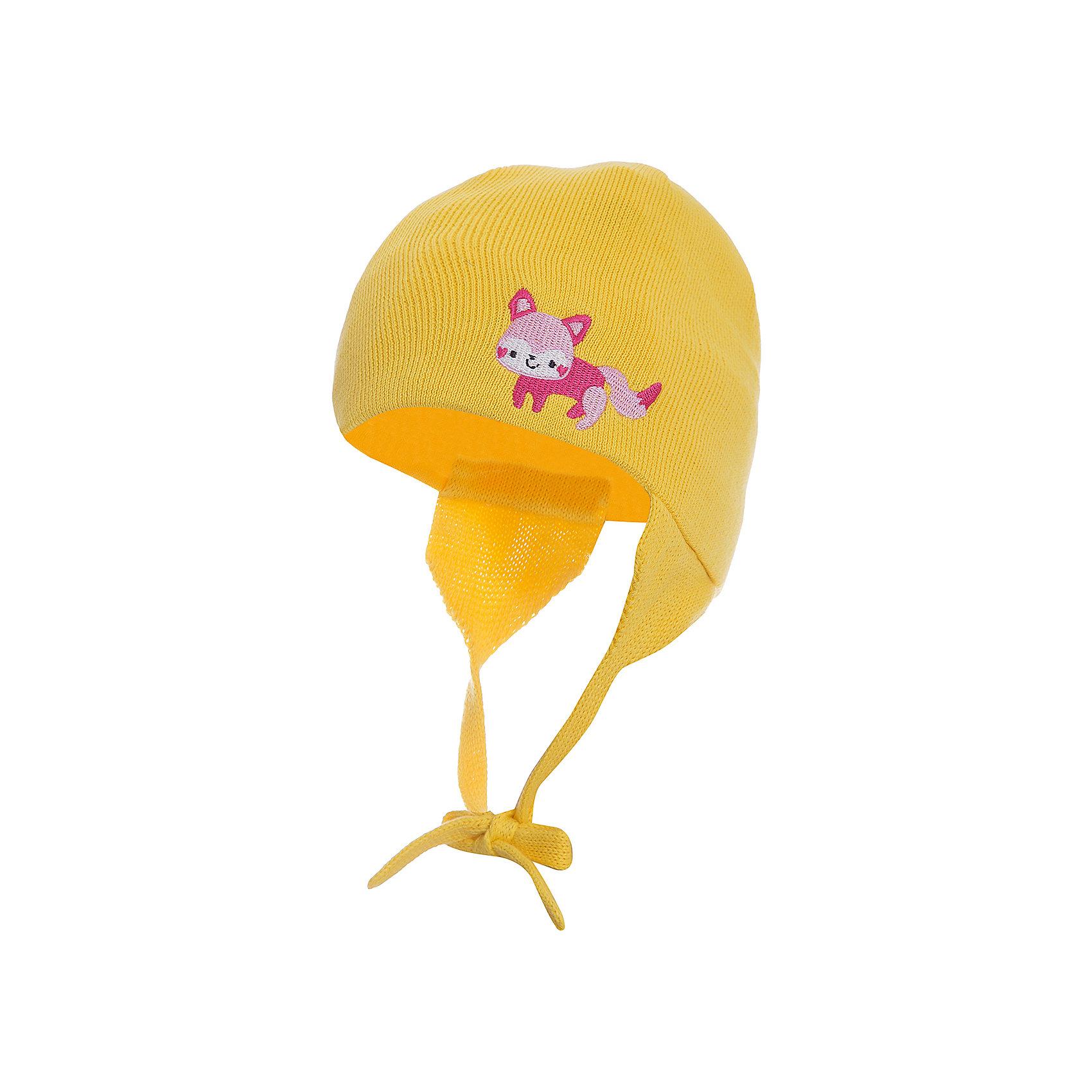 Шапка для девочки HuppaГоловные уборы<br>Хлопчатобумажная демисезонная шапка на завязках.<br><br>Дополнительная информация:<br><br>Демисезонная модель<br>Состав:100% хлопок<br><br>Шапку для девочки Huppa можно купить в нашем магазине.<br><br>Ширина мм: 89<br>Глубина мм: 117<br>Высота мм: 44<br>Вес г: 155<br>Цвет: желтый<br>Возраст от месяцев: 0<br>Возраст до месяцев: 6<br>Пол: Женский<br>Возраст: Детский<br>Размер: 39-43,51-53,47-49,43-45<br>SKU: 4595790