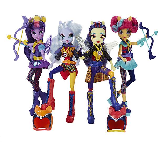 Кукла Шедоуболт, с аксессуарами, Эквестрия герлз, в ассортиментеИгрушки<br>Кукла Шедоуболт от Equestria Girls станет замечательным подарком для все юных поклонниц волшебных пони линейки My Little Pony. Серия кукол My Little Pony, Equestria Girls (Девушки Эквестрии) создана по мотивам популярного мультсериала Дружба - это чудо о повседневной жизни и приключениях волшебных лошадок. Каждая кукла похожа на своего пони-прототипа из мультфильма: Радугу Дэш, Эпплджек, Пинки Пай и других. <br><br>На этот раз Crystal Prep Academy отправляет своих лучших студентов для участия в соревнованиях Игры - это дружба!. Каждая из кукол выбрала себе состязание по душе: Пи Кьюз и Твайлайт Спаркл будут соревноваться в конкурсе по стрельбе из лука, Лайтнинг Даст и Шугар Коат покажут высокую скорость на своих байках на мотокроссе, а Лемон Тарт и Фэйр Ти будут стильно скользить на роликах до финишной линии! У каждой из участниц свой неповторимый спортивный имидж: одежда, прическа и аксессуары. Руки и ноги кукол сгибаются. В каждый набор вместе с куклой входит уникальное закодированное ожерелье, которое можно отсканировать своим мобильным устройством и получить эту куклу в свою коллекцию в мобильном приложении. Куклы представлены в ассортименте.<br><br>Дополнительная информация:<br><br>- В комплекте: кукла, аксессуары, карточка.<br>- Высота куклы: 22 см.<br>- Материал: пластик, текстиль.<br>- Размер упаковки: 22,8 х 5 х 30,5 см.<br>- Вес: 0,319 кг.<br><br>Куклу Шедоуболт, с аксессуарами, Эквестрия герлз, можно купить в нашем интернет-магазине.<br><br>ВНИМАНИЕ! Данный артикул имеется в наличии в разных вариантах исполнения. Заранее выбрать определенный вариант нельзя. При заказе нескольких кукол возможно получение одинаковых.<br><br>Ширина мм: 50<br>Глубина мм: 228<br>Высота мм: 305<br>Вес г: 319<br>Возраст от месяцев: 60<br>Возраст до месяцев: 144<br>Пол: Женский<br>Возраст: Детский<br>SKU: 4601408