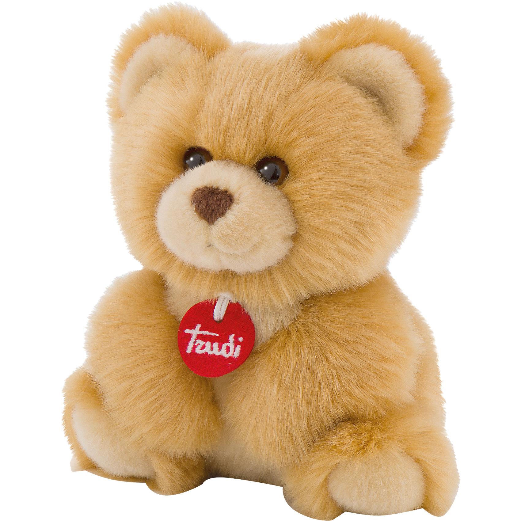 Медвеженок-пушистик, 24 см, TrudiМедвежата<br>Характеристики товара:<br><br>• возраст от 3 лет;<br>• материал: плюш, пластик;<br>• высота игрушки 24 см;<br>• страна производитель: Индонезия.<br><br>Медвежонок-пушистик Trudi — пушистый мягкий мишка, который станет ребенку верным другом. У мишки большие ушки и добрые глазки-пуговки. Медвежонка можно брать с собой на прогулку, в гости, в путешествие или в кроватку перед сном. Игрушка изготовлена из приятного на ощупь материала, безопасного для ребенка.<br><br>Медвежонка-пушистика Trudi 24 см можно приобрести в нашем интернет-магазине.<br><br>Ширина мм: 197<br>Глубина мм: 149<br>Высота мм: 121<br>Вес г: 157<br>Возраст от месяцев: 0<br>Возраст до месяцев: 60<br>Пол: Унисекс<br>Возраст: Детский<br>SKU: 4601410