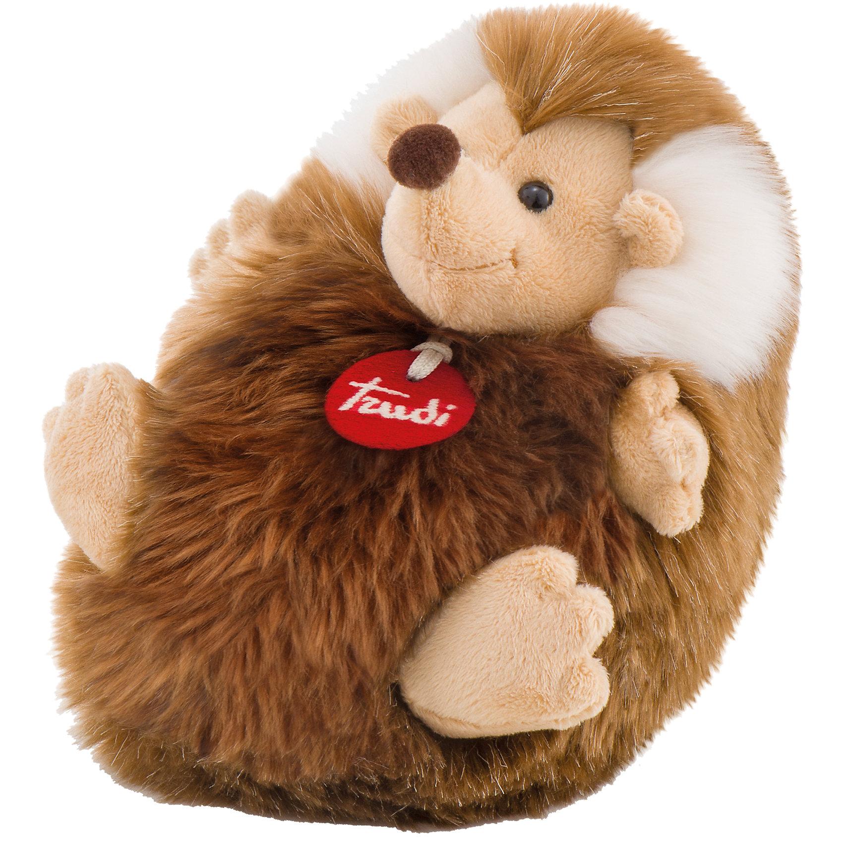 Ежик-пушистик, 24 см, TrudiМилый ежик-пушистик, Trudi станет прекрасным подарком малышу. Ежик совсем не колючий, он любит улыбаться и легко позволит погладить себя по спинке и животику. Игрушка выполнена из безопасных материалов и отлично подойдет для самых маленьких детей.<br><br>Дополнительная информация:<br>Материал: плюш<br>Размер: 24 см<br>Цвет: коричневый<br><br>Ежика-пушистика, Trudi вы можете приобрести в нашем интернет-магазине.<br><br>Ширина мм: 199<br>Глубина мм: 159<br>Высота мм: 132<br>Вес г: 173<br>Возраст от месяцев: 12<br>Возраст до месяцев: 60<br>Пол: Унисекс<br>Возраст: Детский<br>SKU: 4601412