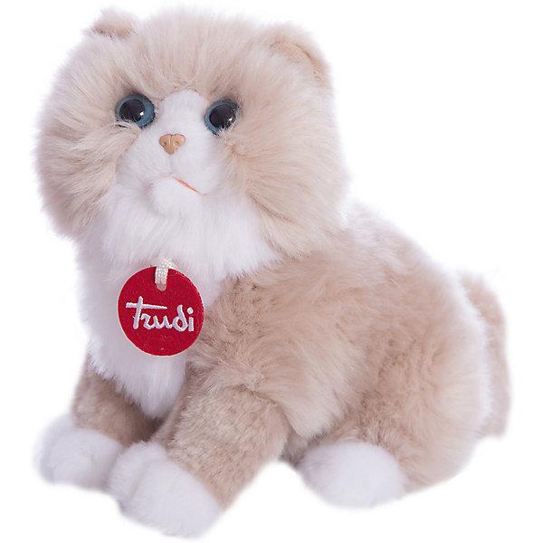 Персидская кошка, 23 см, TrudiМягкие игрушки животные<br>Очаровательная персидская кошка, Trudi станет лучшим другом малыша. Игрушка изготовлена из качественных материалов, безопасных для ребенка. Кошка сидит и улыбается в ожидании веселой игры. Милая персидская кошка отлично дополнит интерьер детской комнаты и поможет развить мелкую моторику и тактильные навыки крохи.<br><br>Дополнительная информация:<br>Материал: текстиль, пластик<br>Размер: 23 см<br><br>Вы можете приобрести персидскую кошку, Trudi в нашем интернет-магазине.<br>Ширина мм: 228; Глубина мм: 167; Высота мм: 121; Вес г: 123; Возраст от месяцев: 12; Возраст до месяцев: 60; Пол: Унисекс; Возраст: Детский; SKU: 4601416;