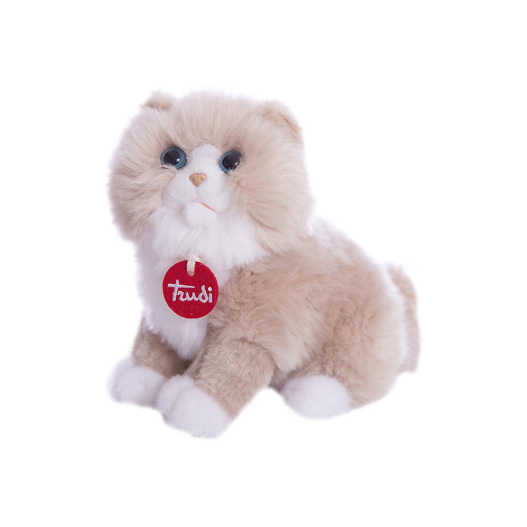 Персидская кошка, 23 см, TrudiКошки и собаки<br>Очаровательная персидская кошка, Trudi станет лучшим другом малыша. Игрушка изготовлена из качественных материалов, безопасных для ребенка. Кошка сидит и улыбается в ожидании веселой игры. Милая персидская кошка отлично дополнит интерьер детской комнаты и поможет развить мелкую моторику и тактильные навыки крохи.<br><br>Дополнительная информация:<br>Материал: текстиль, пластик<br>Размер: 23 см<br><br>Вы можете приобрести персидскую кошку, Trudi в нашем интернет-магазине.<br><br>Ширина мм: 228<br>Глубина мм: 167<br>Высота мм: 121<br>Вес г: 123<br>Возраст от месяцев: 12<br>Возраст до месяцев: 60<br>Пол: Унисекс<br>Возраст: Детский<br>SKU: 4601416