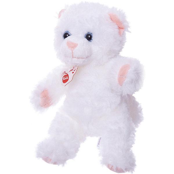 Мягкая игрушка Trudi Белая кошка, 20 смМягкие игрушки животные<br>Характеристики:<br><br>• возраст: от 1 года;<br>• материал: плюш, пластик;<br>• высота игрушки: 20 см;<br>• страна бренда: Италия.<br><br>Мягкая игрушка Trudi выполнена в виде милой кошечки, которая ждет объятий. Игрушка невероятно приятна на ощупь, качественный плюш долго сохраняет первоначальный внешний вид. Игрушка надежно прошита, подходит для машинной стирки при температуре 30 градусов.<br><br>Мягкие игрушки Trudi соответствуют высоким требованиям к качеству детских товаров.<br><br>Мягкую игрушку Trudi «Белая кошка», 20 см можно купить в нашем интернет-магазине.<br>Ширина мм: 214; Глубина мм: 172; Высота мм: 76; Вес г: 71; Возраст от месяцев: 3; Возраст до месяцев: 60; Пол: Унисекс; Возраст: Детский; SKU: 4601420;